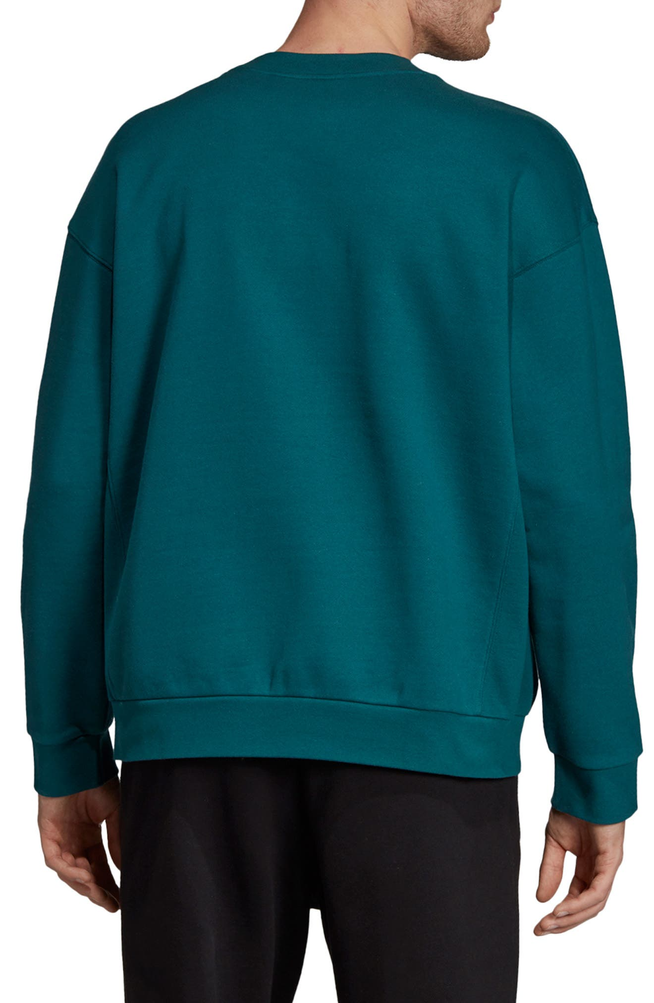 ADIDAS ORIGINALS, Arc Sweatshirt, Alternate thumbnail 2, color, RICH GREEN