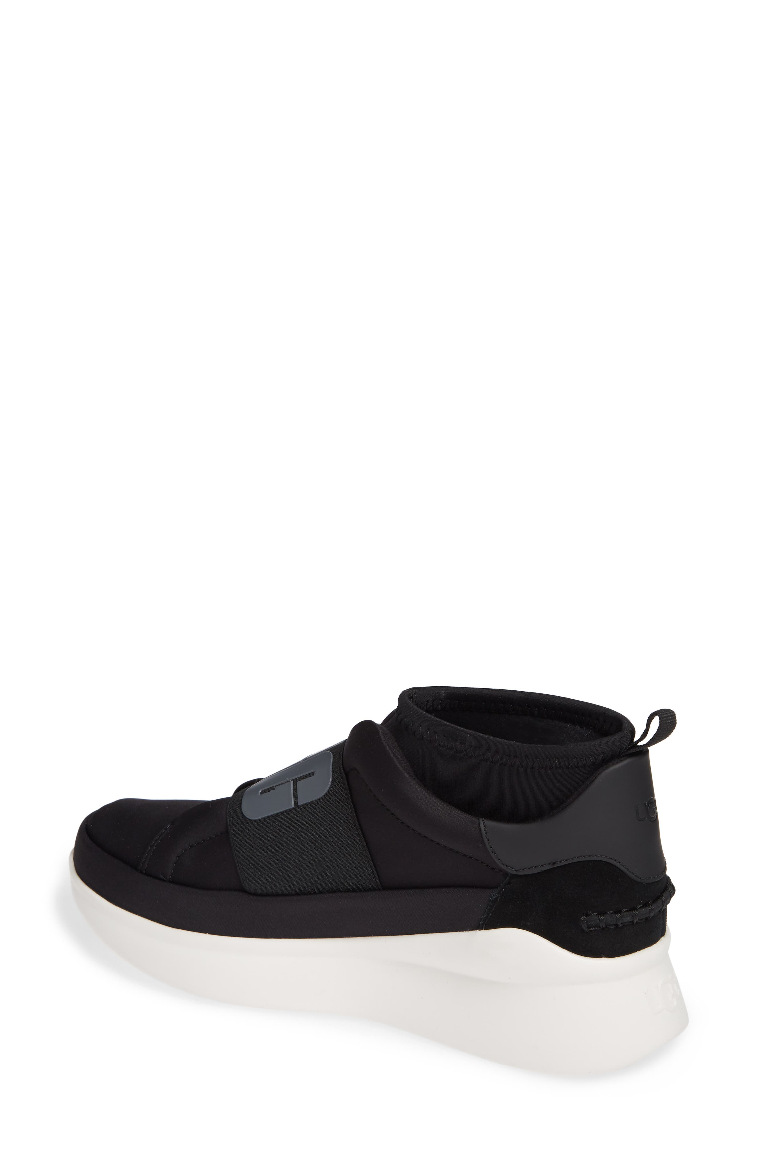 UGG<SUP>®</SUP>, Neutra Sock Sneaker, Alternate thumbnail 2, color, BLACK