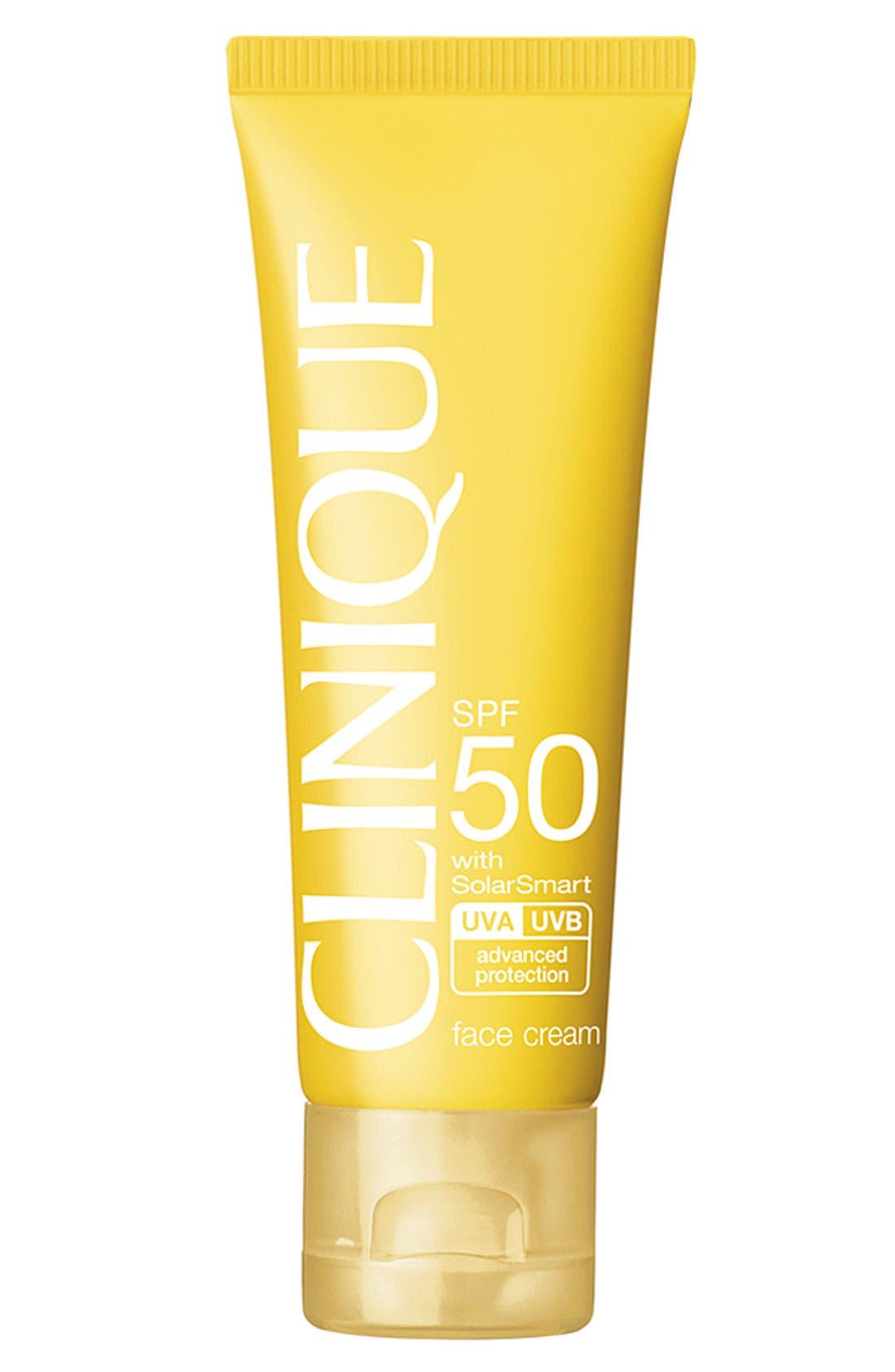 CLINIQUE Sun Broad Spectrum SPF 50 Face Cream, Main, color, NO COLOR