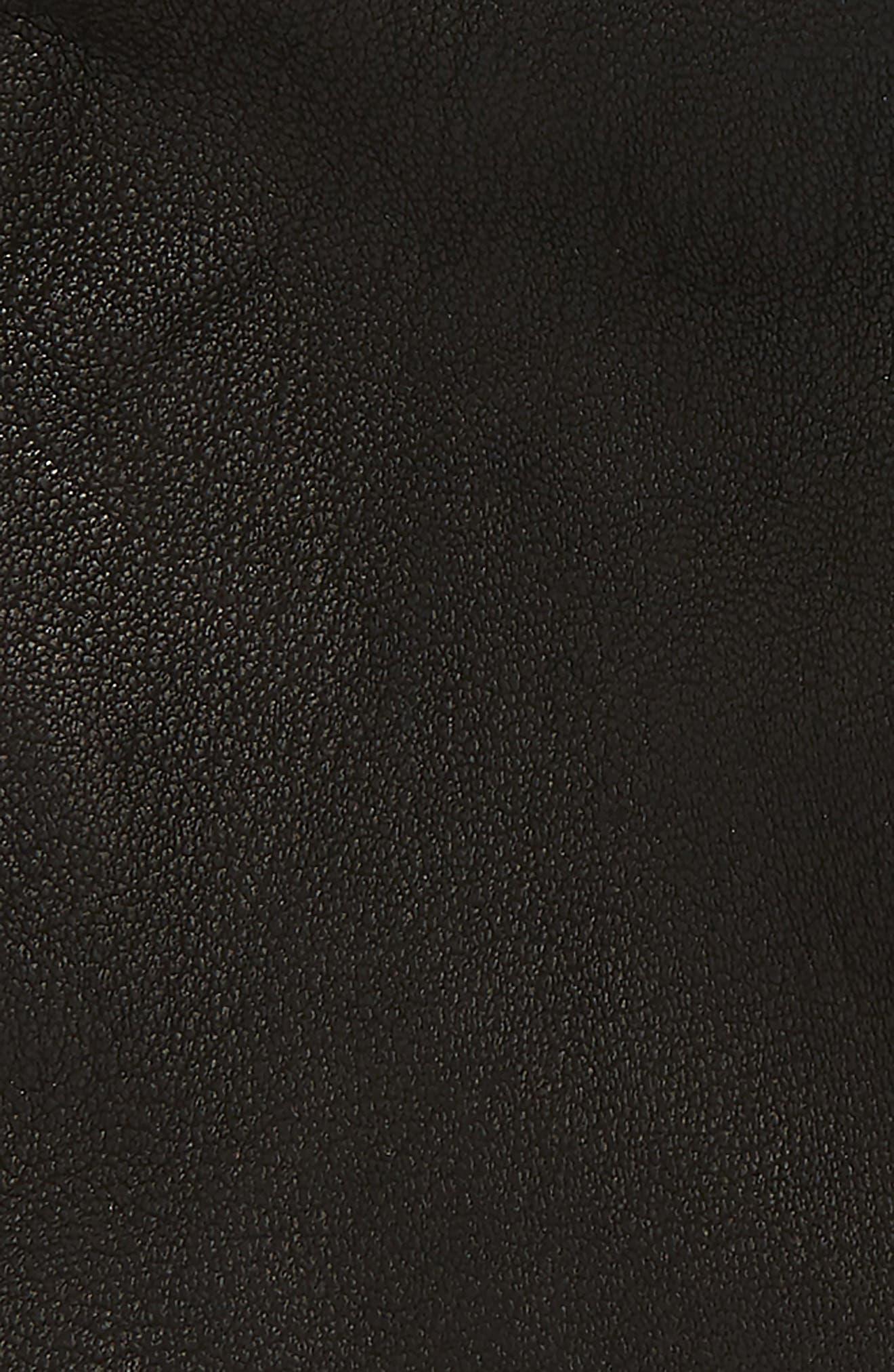 POLO RALPH LAUREN, Deerskin Gloves, Alternate thumbnail 3, color, BLACK
