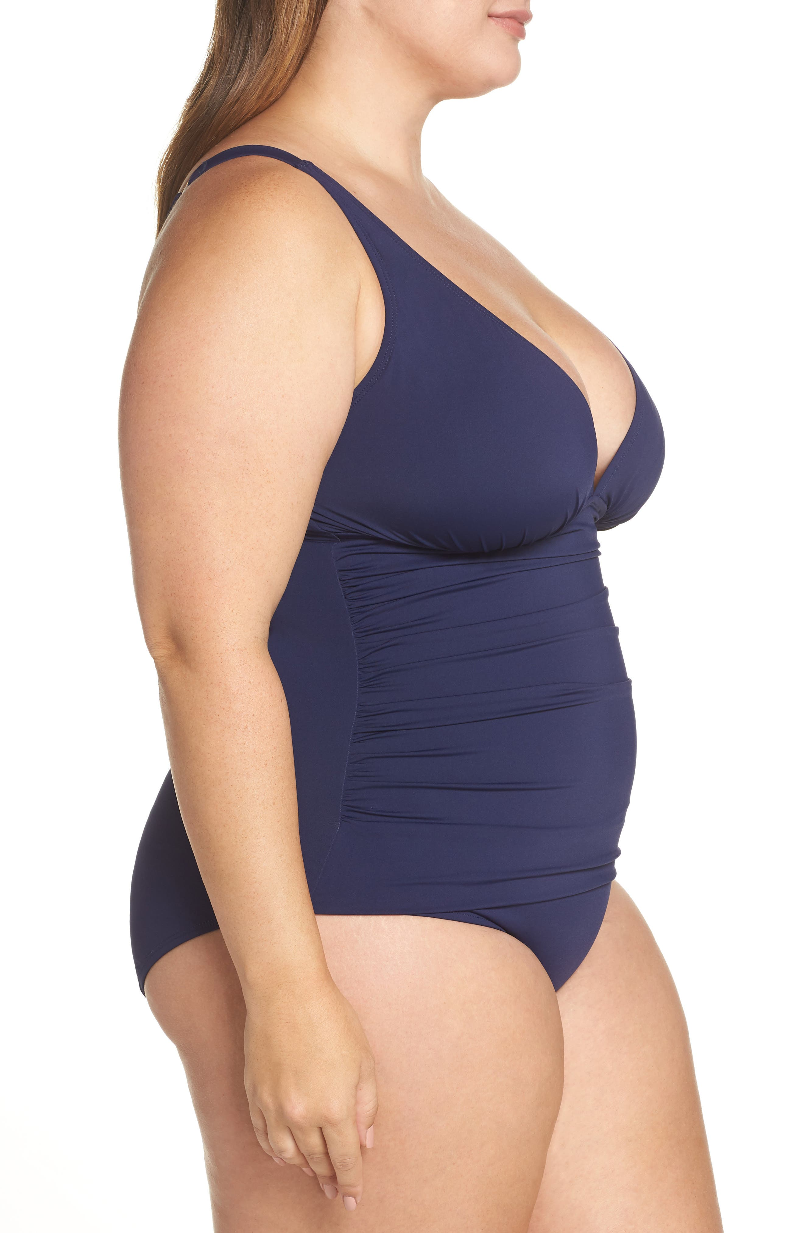 TOMMY BAHAMA, Pearl One-Piece Swimsuit, Alternate thumbnail 4, color, MARE
