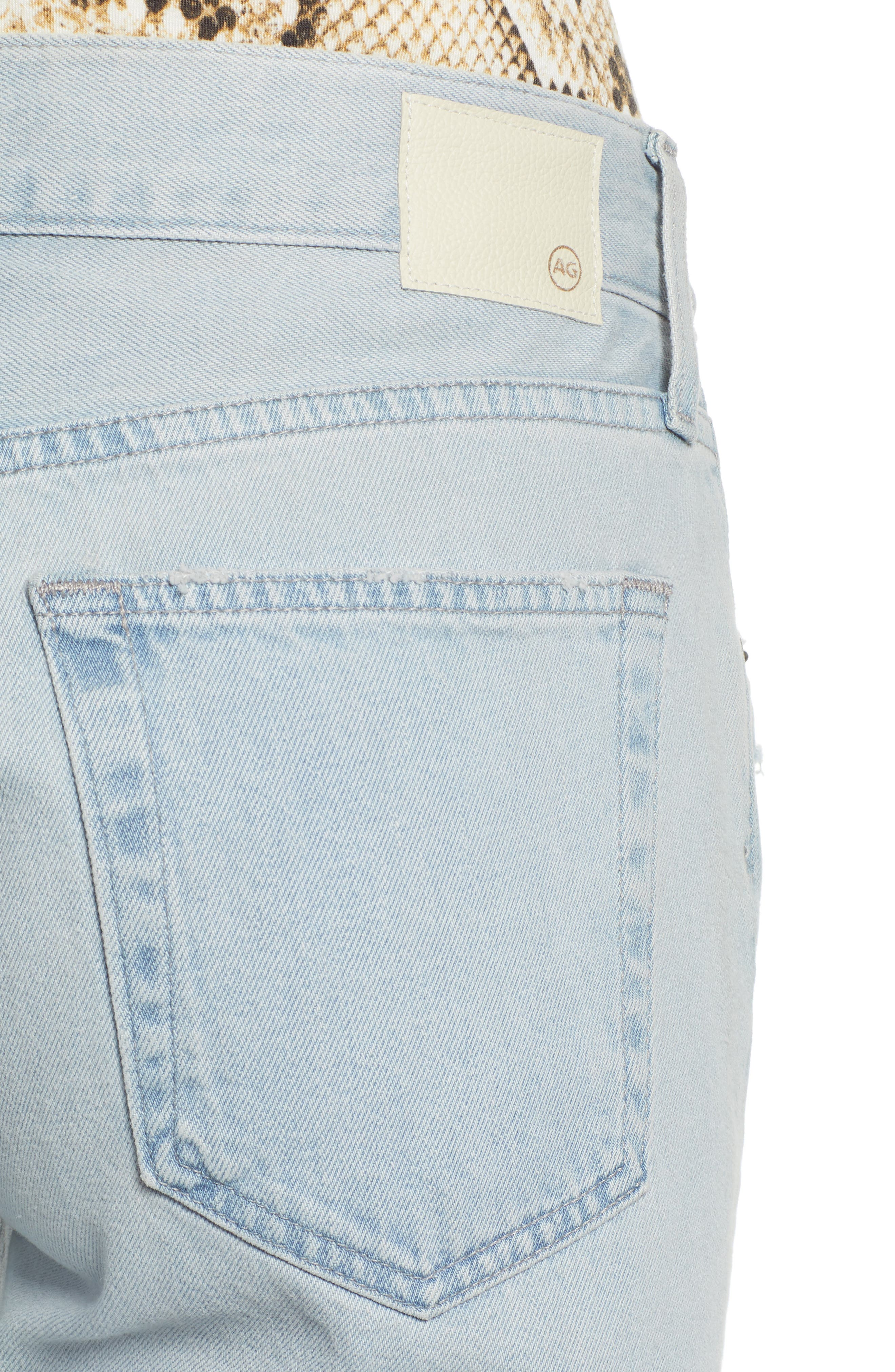 AG, Ex-Boyfriend Ripped Slouchy Ankle Slim Jeans, Alternate thumbnail 5, color, 25 YEARS DEEP DUST