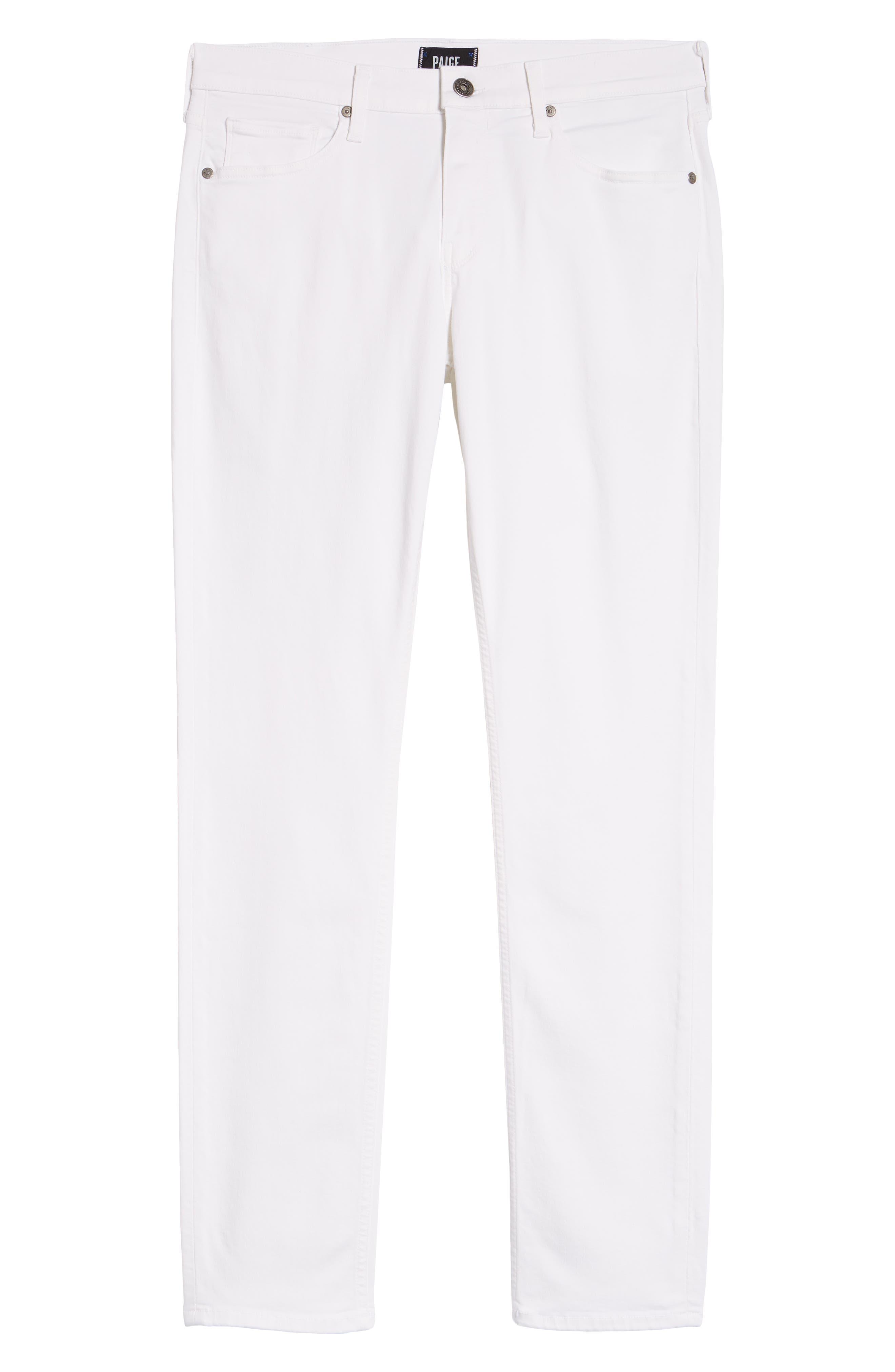 PAIGE, Transcend - Lennox Slim Fit Jeans, Alternate thumbnail 7, color, ICECAP