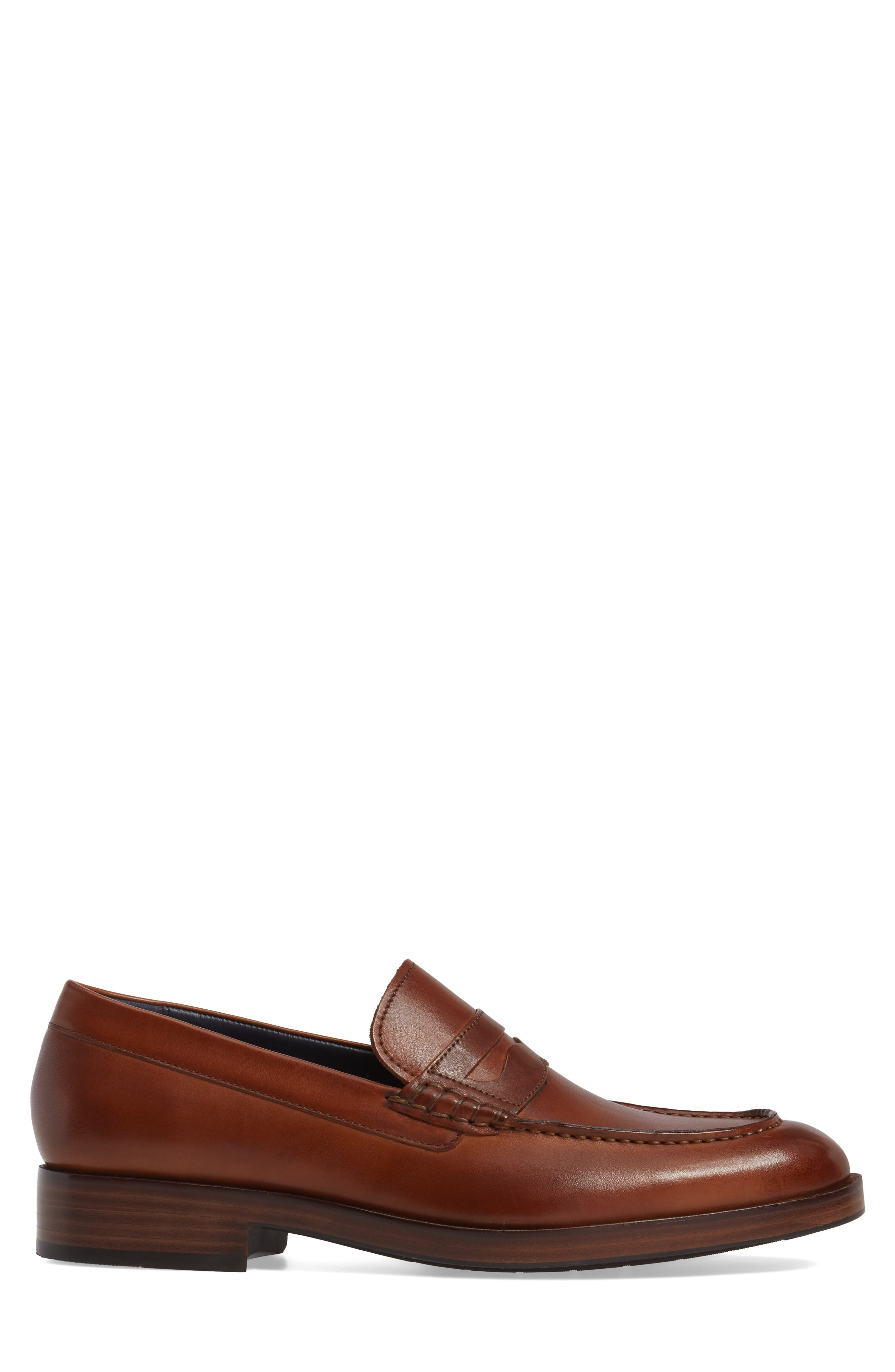 COLE HAAN, Harrison Grand Penny Loafer, Alternate thumbnail 3, color, COGNAC/ DARK NATURAL LEATHER