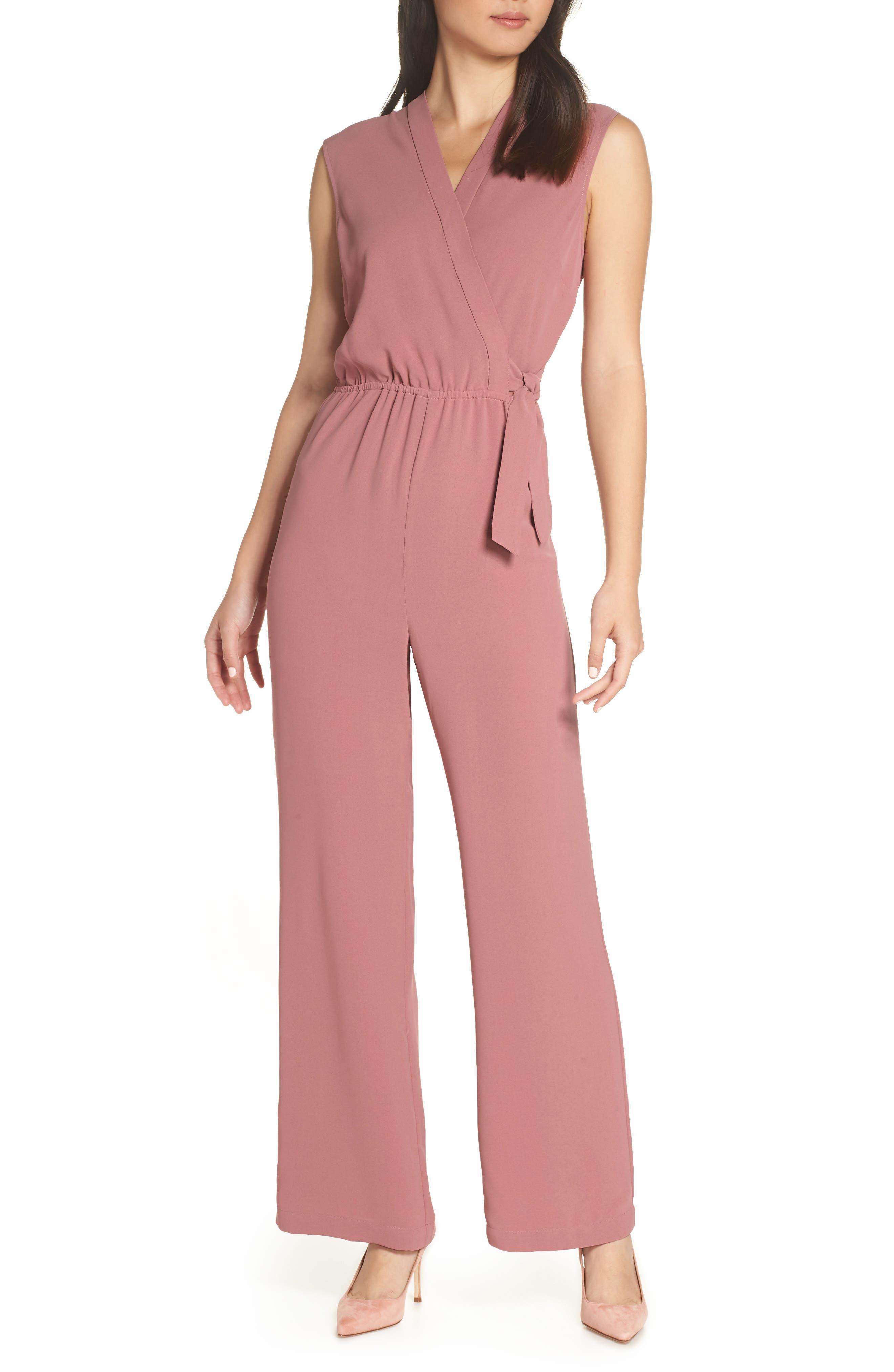 CHELSEA28 Faux Wrap Jumpsuit, Main, color, 510