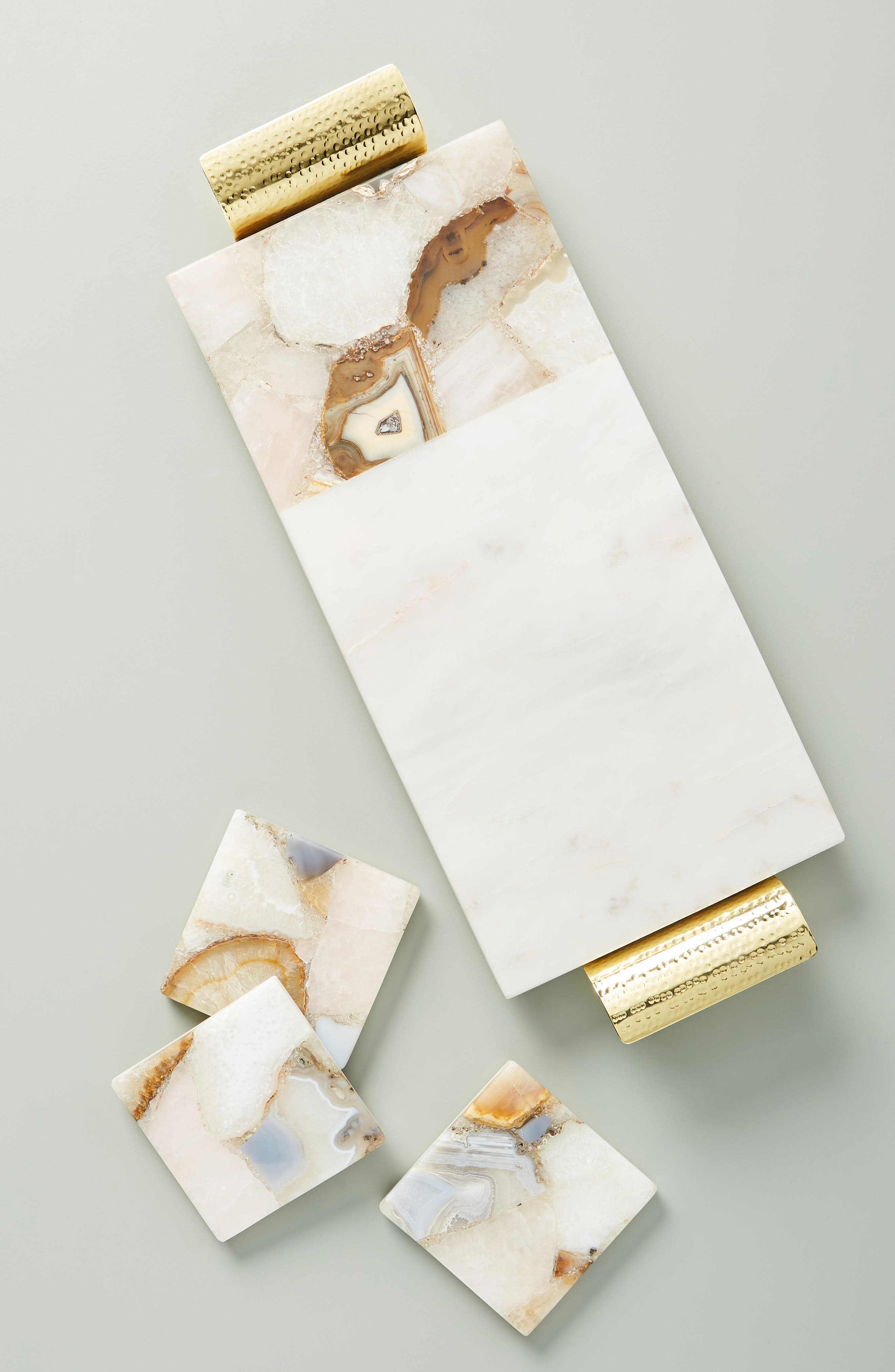 ANTHROPOLOGIE, Morgan Agate & Marble Cheese Board, Alternate thumbnail 4, color, WHITE