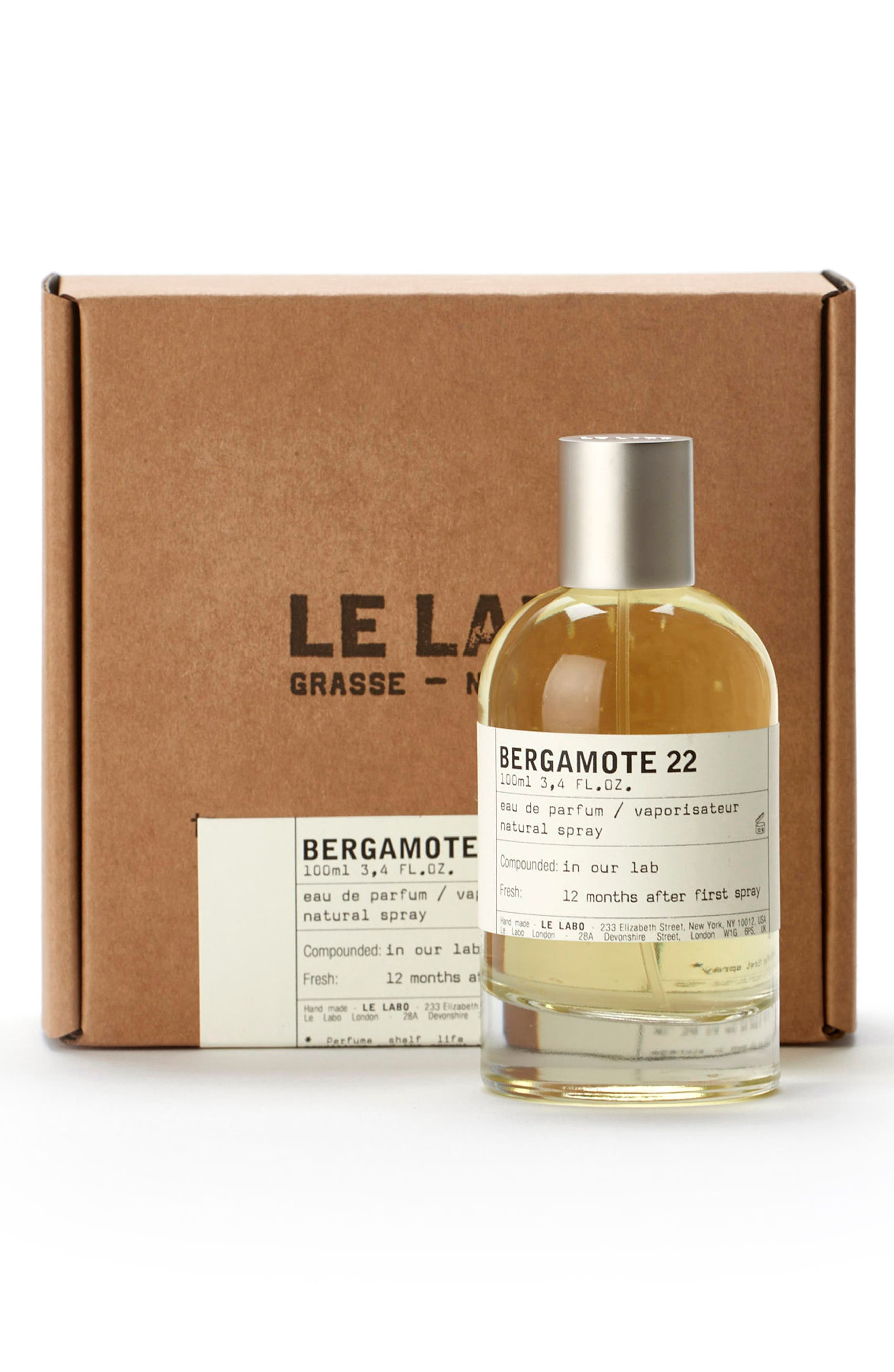 LE LABO, 'Bergamote 22' Eau de Parfum, Alternate thumbnail 2, color, NO COLOR