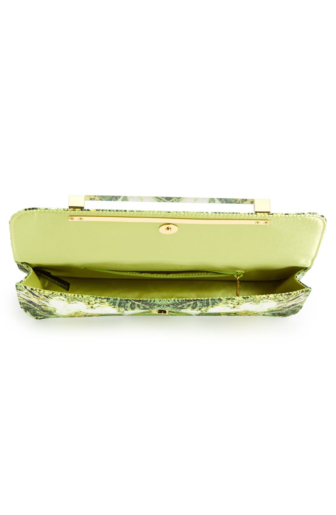 TED BAKER LONDON, 'Tropical Dove' Clutch, Alternate thumbnail 2, color, 300