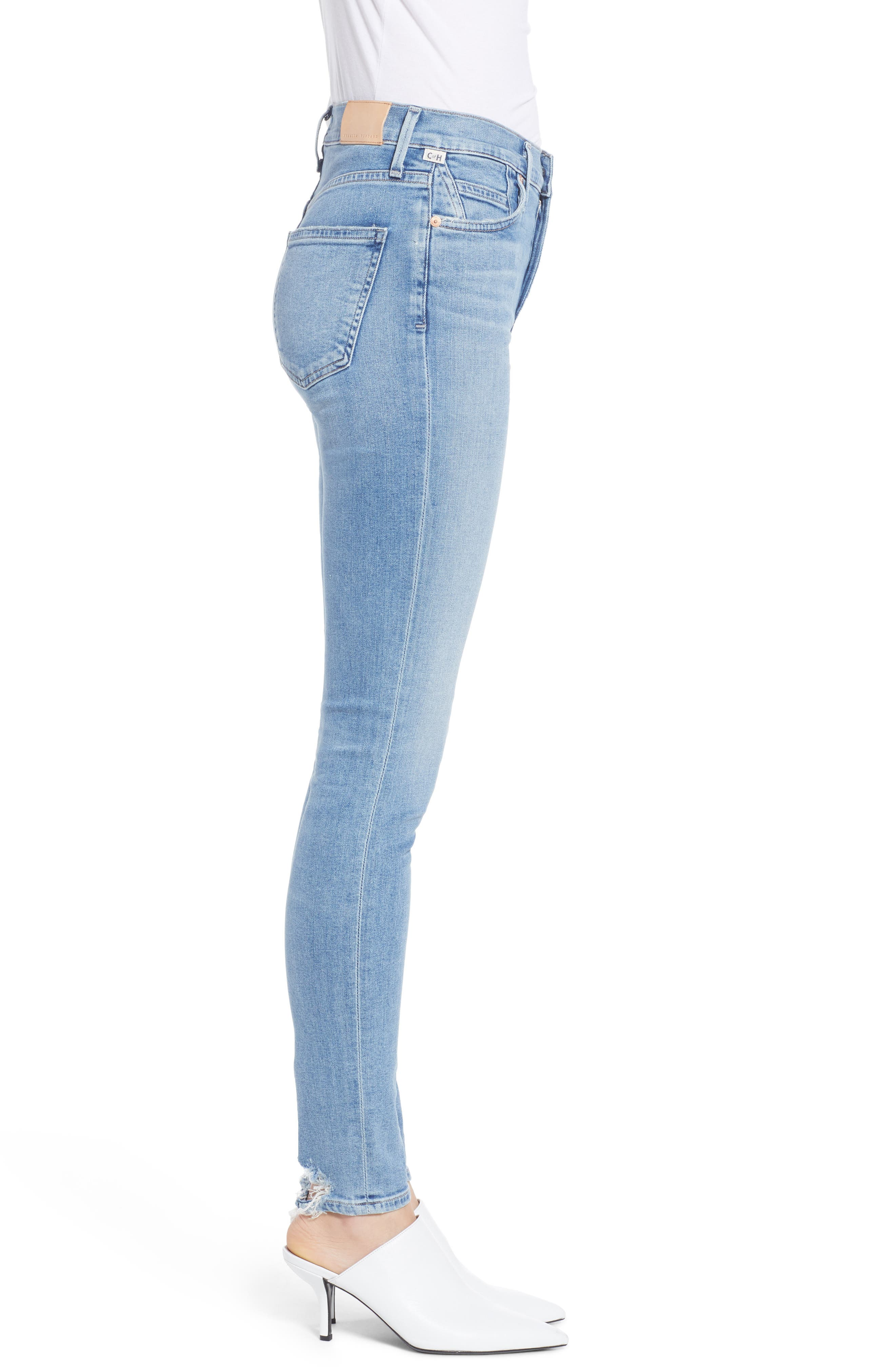 CITIZENS OF HUMANITY, Rocket High Waist Skinny Jeans, Alternate thumbnail 4, color, SMALL TALK