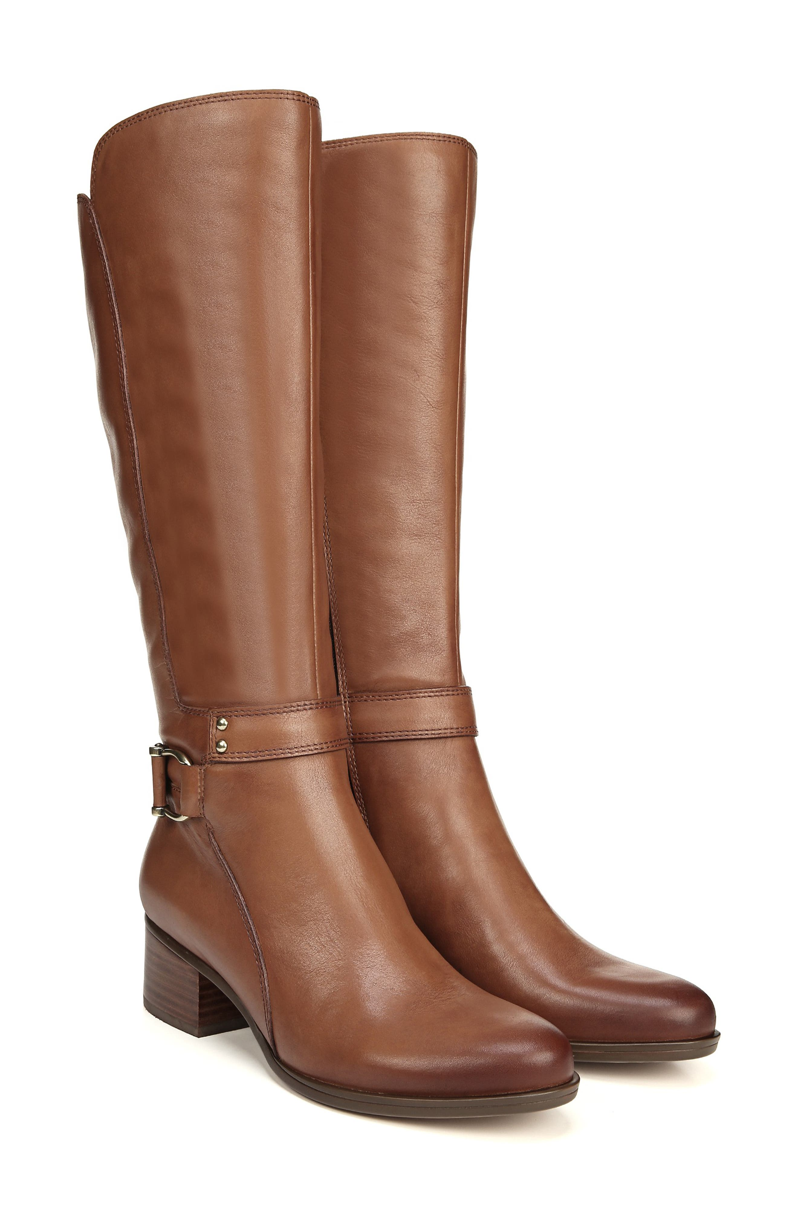 NATURALIZER, Dane Knee High Riding Boot, Alternate thumbnail 9, color, MAPLE LEATHER