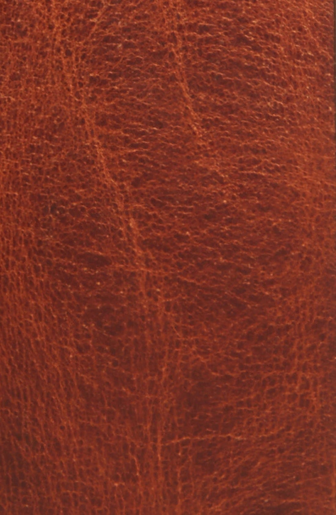 TED BAKER LONDON, 'Jean' Leather Belt, Alternate thumbnail 2, color, TAN