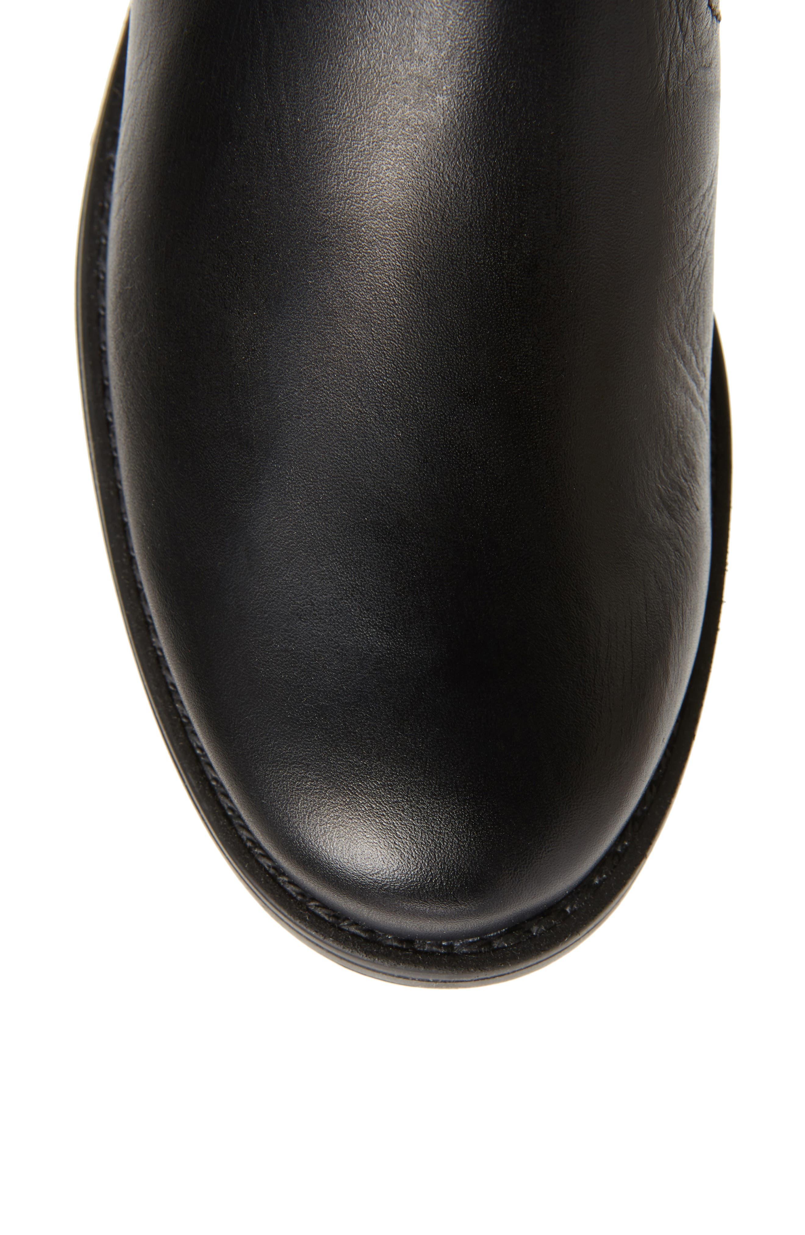 DAVID TATE, Portofino Boot, Alternate thumbnail 5, color, BLACK LEATHER