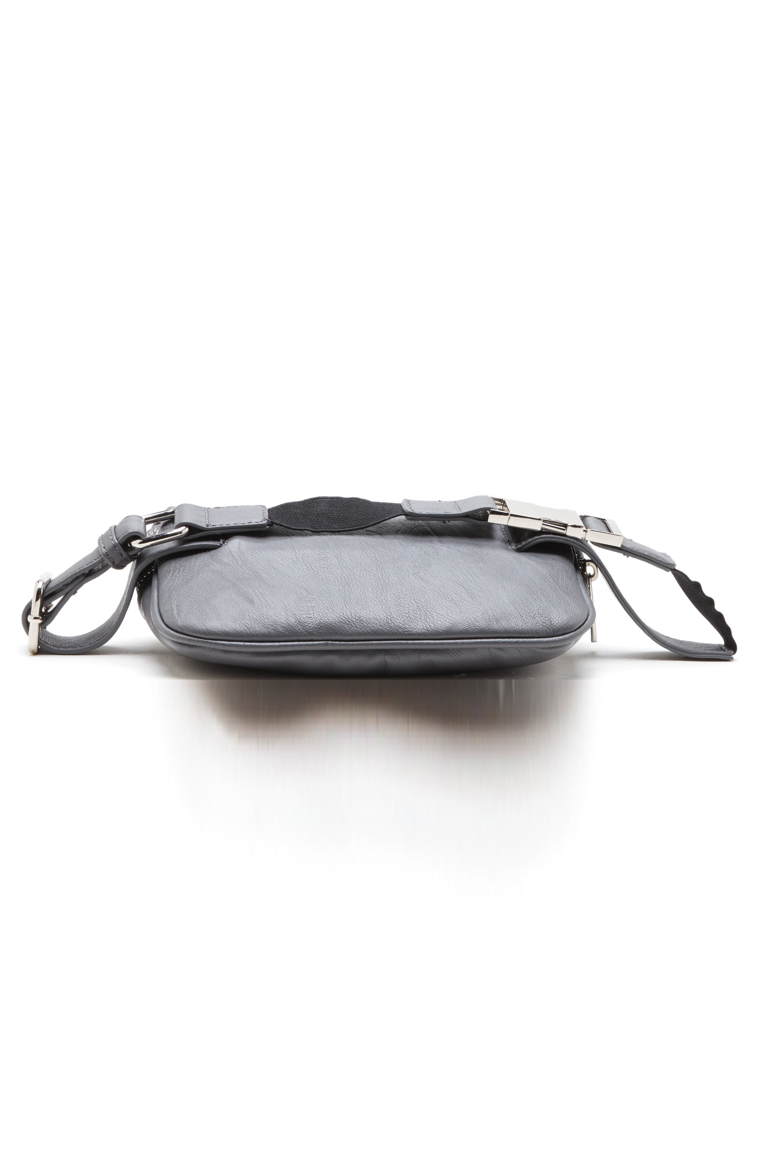SOLE SOCIETY, Cadee Faux Leather Belt Bag, Alternate thumbnail 6, color, CHARCOAL