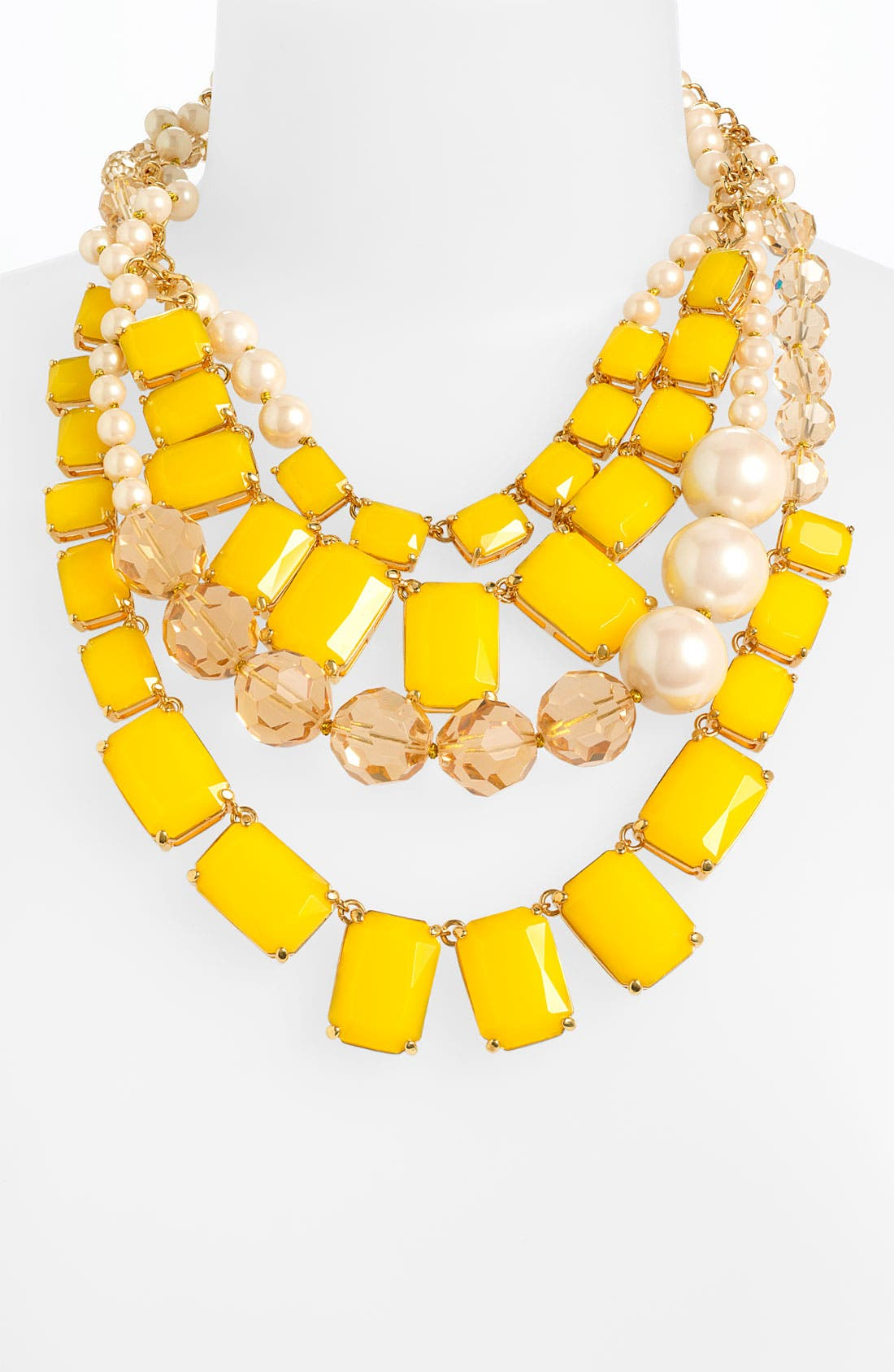 KATE SPADE NEW YORK, 'treasure chest' statement necklace, Main thumbnail 1, color, 730