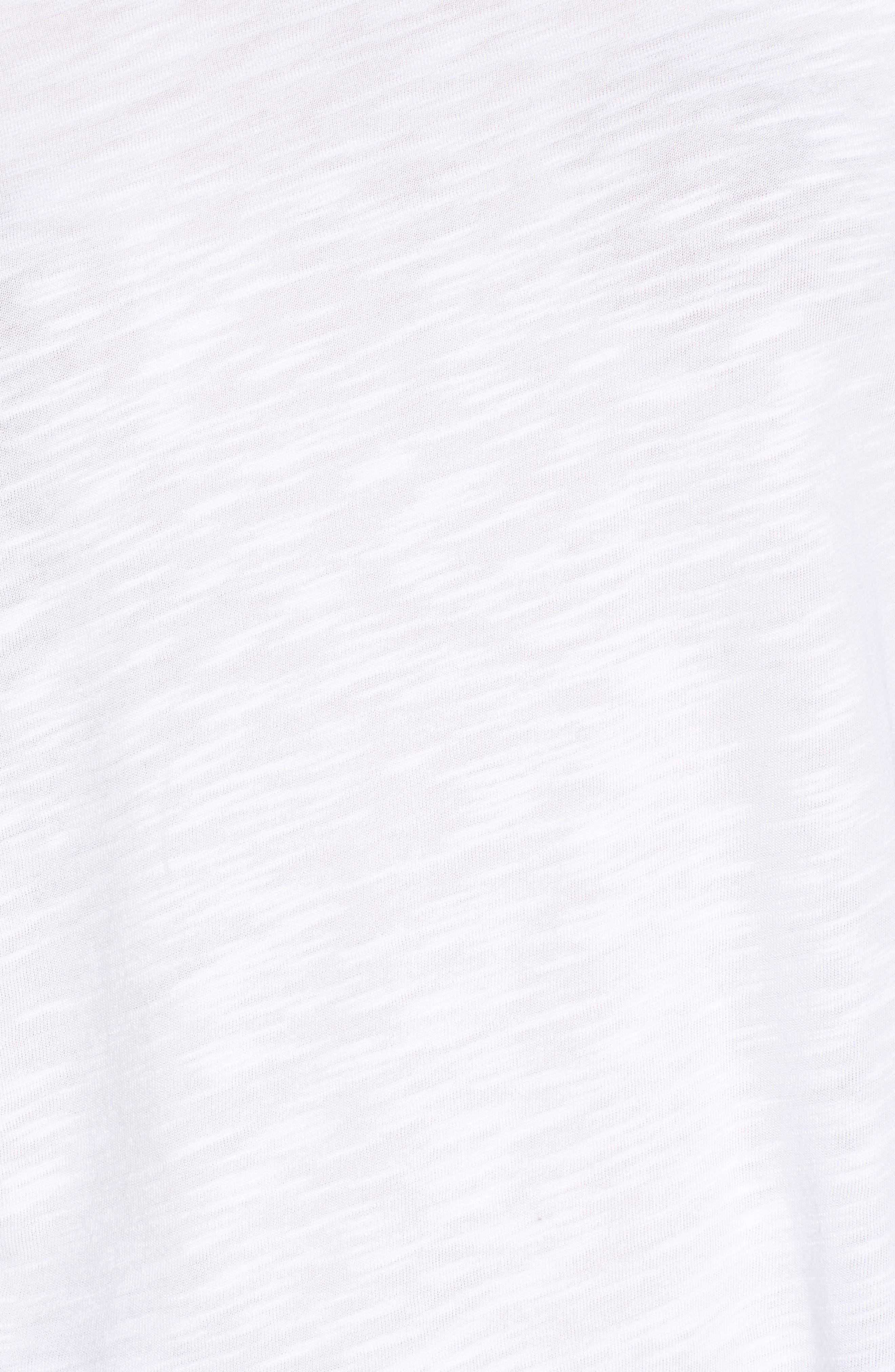 AMOUR VERT, Uma Ruffle Sleeve Tee, Alternate thumbnail 5, color, WHITE