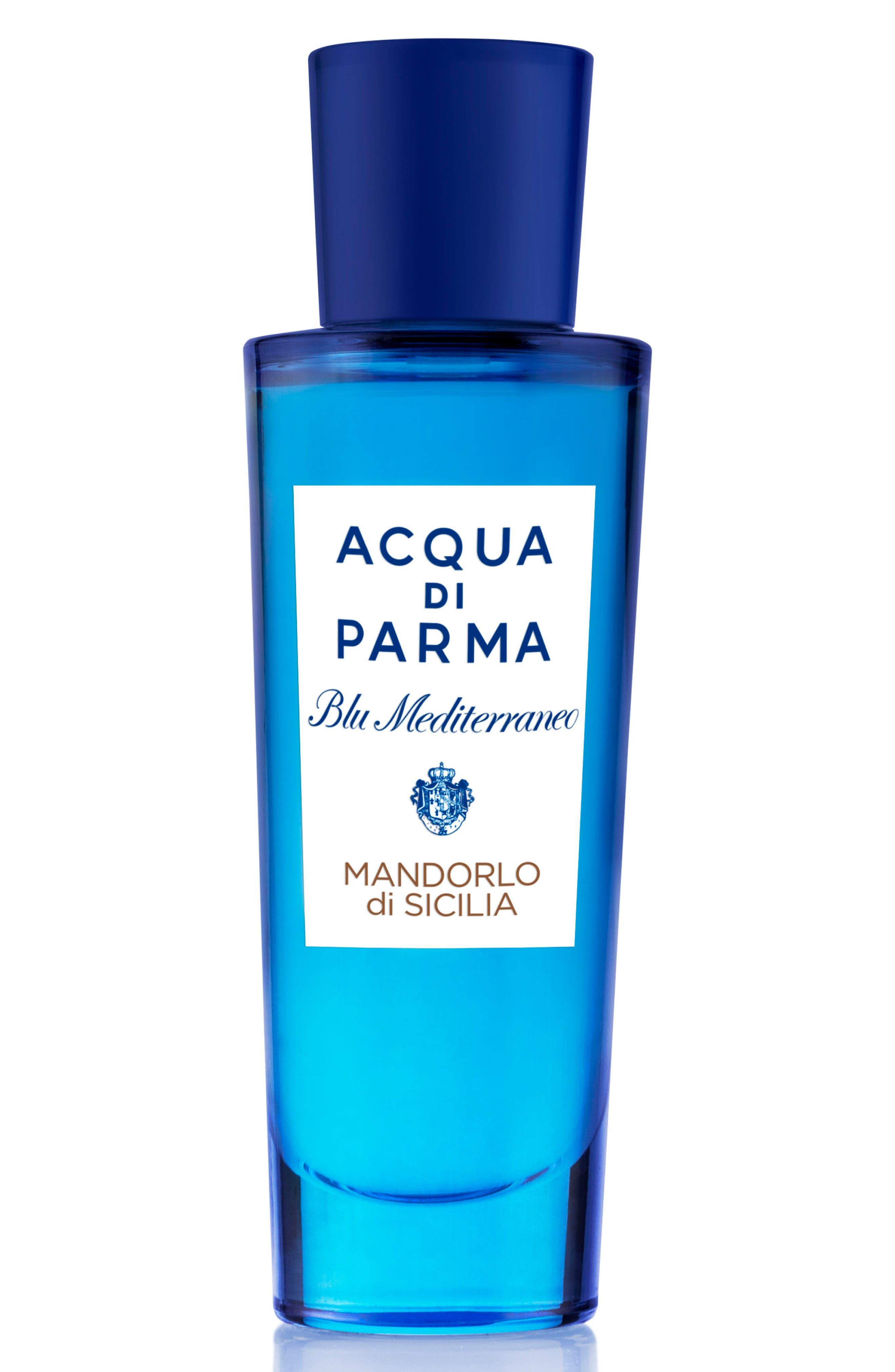 ACQUA DI PARMA, 'Blu Mediterraneo' Mandorlo di Sicilia Eau de Toilette Spray, Alternate thumbnail 7, color, NO COLOR