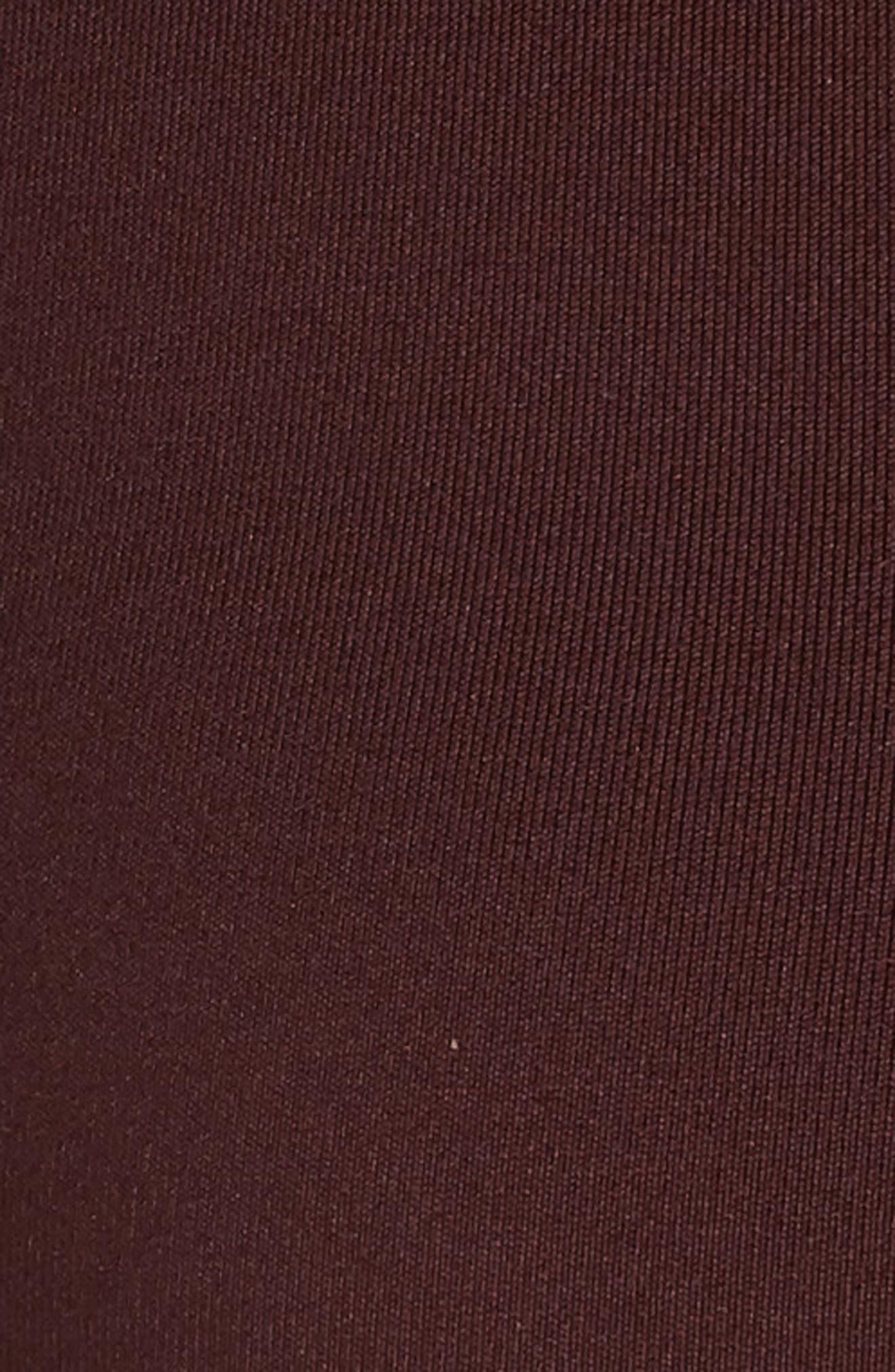 NIKE, Indy Dry Cutout Sports Bra, Alternate thumbnail 6, color, BURGUNDY CRUSH/ BLACK