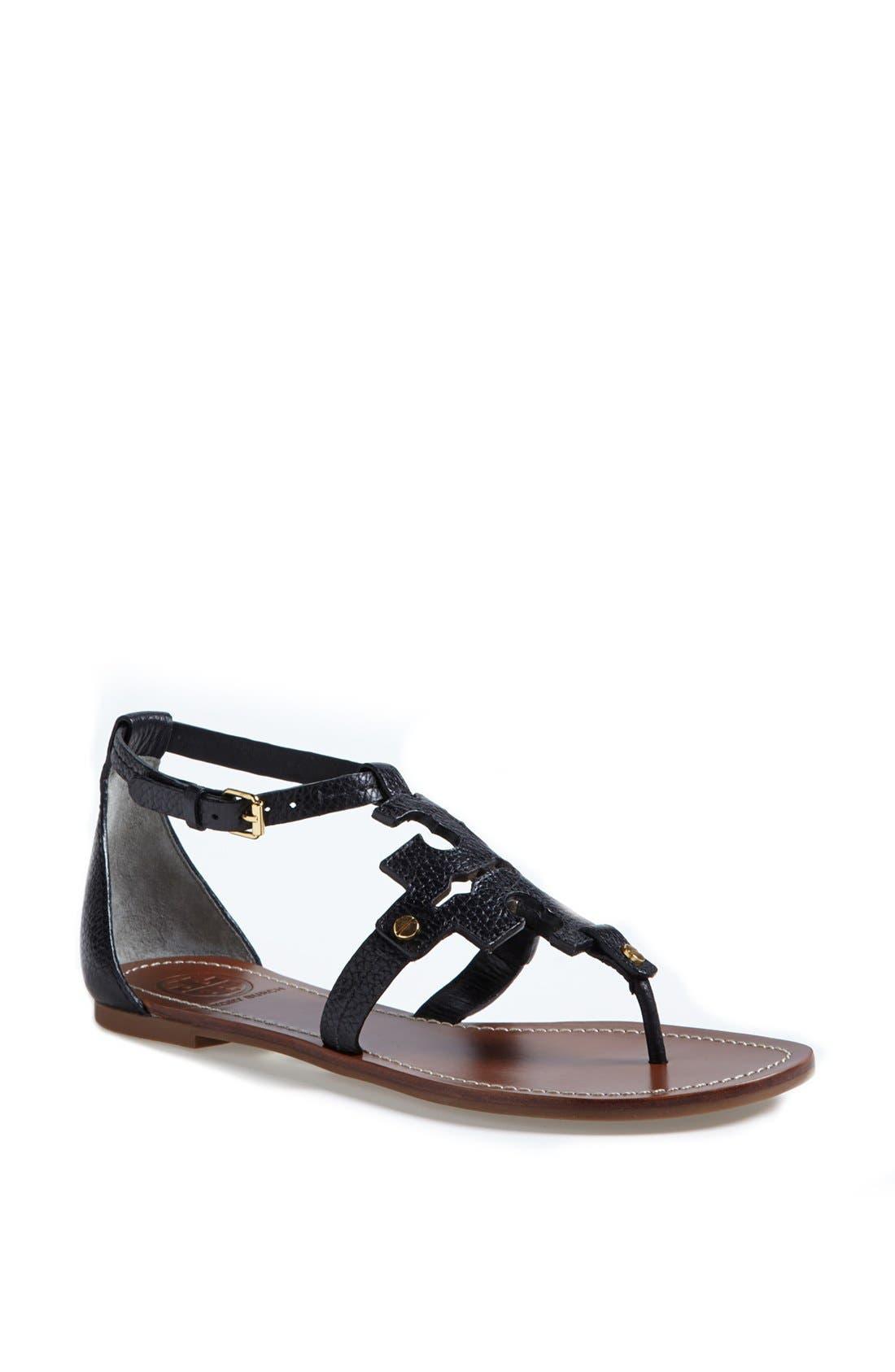 TORY BURCH 'Phoebe' Thong Sandal, Main, color, 001