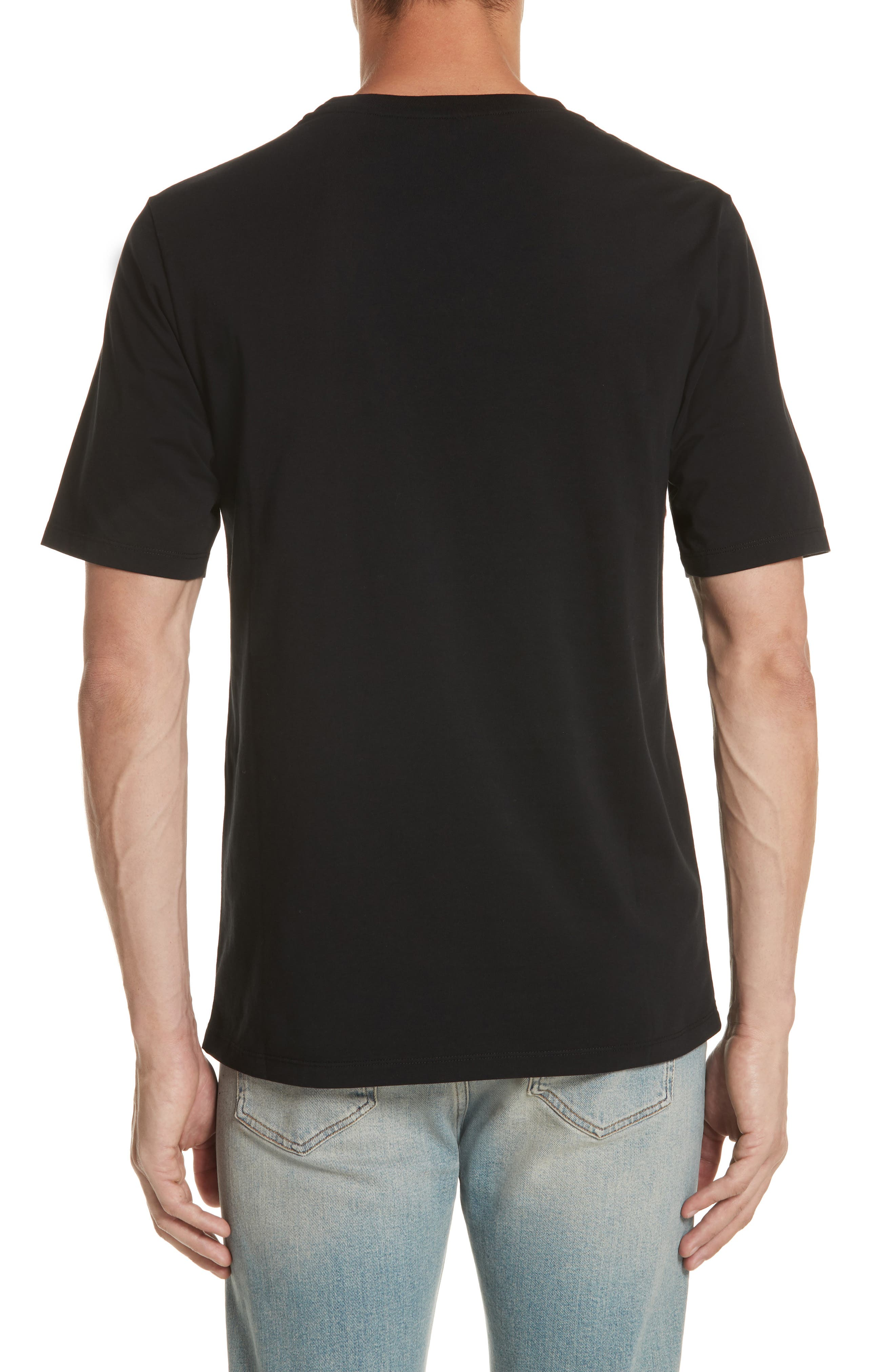 LOEWE, Anagram Logo T-Shirt, Alternate thumbnail 2, color, BLACK