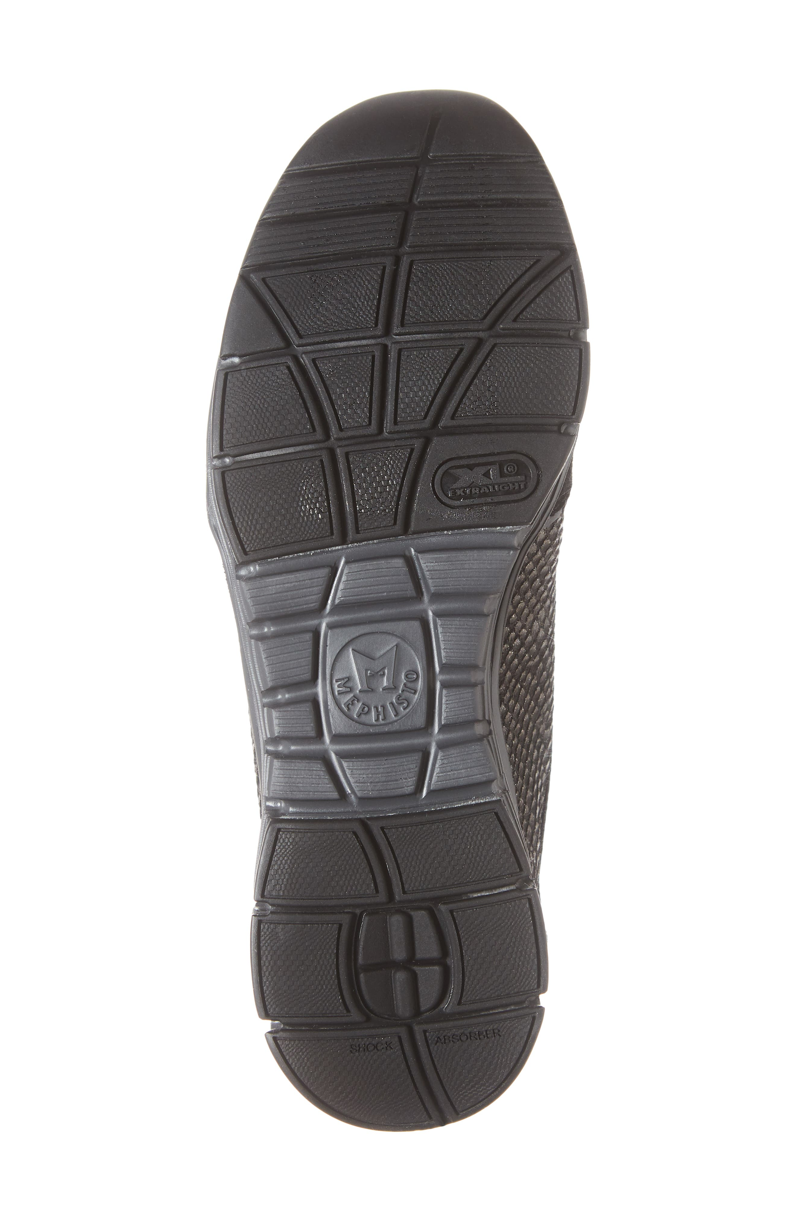 MEPHISTO, 'Yael' Soft-Air Sneaker, Alternate thumbnail 6, color, BLACK SUEDE