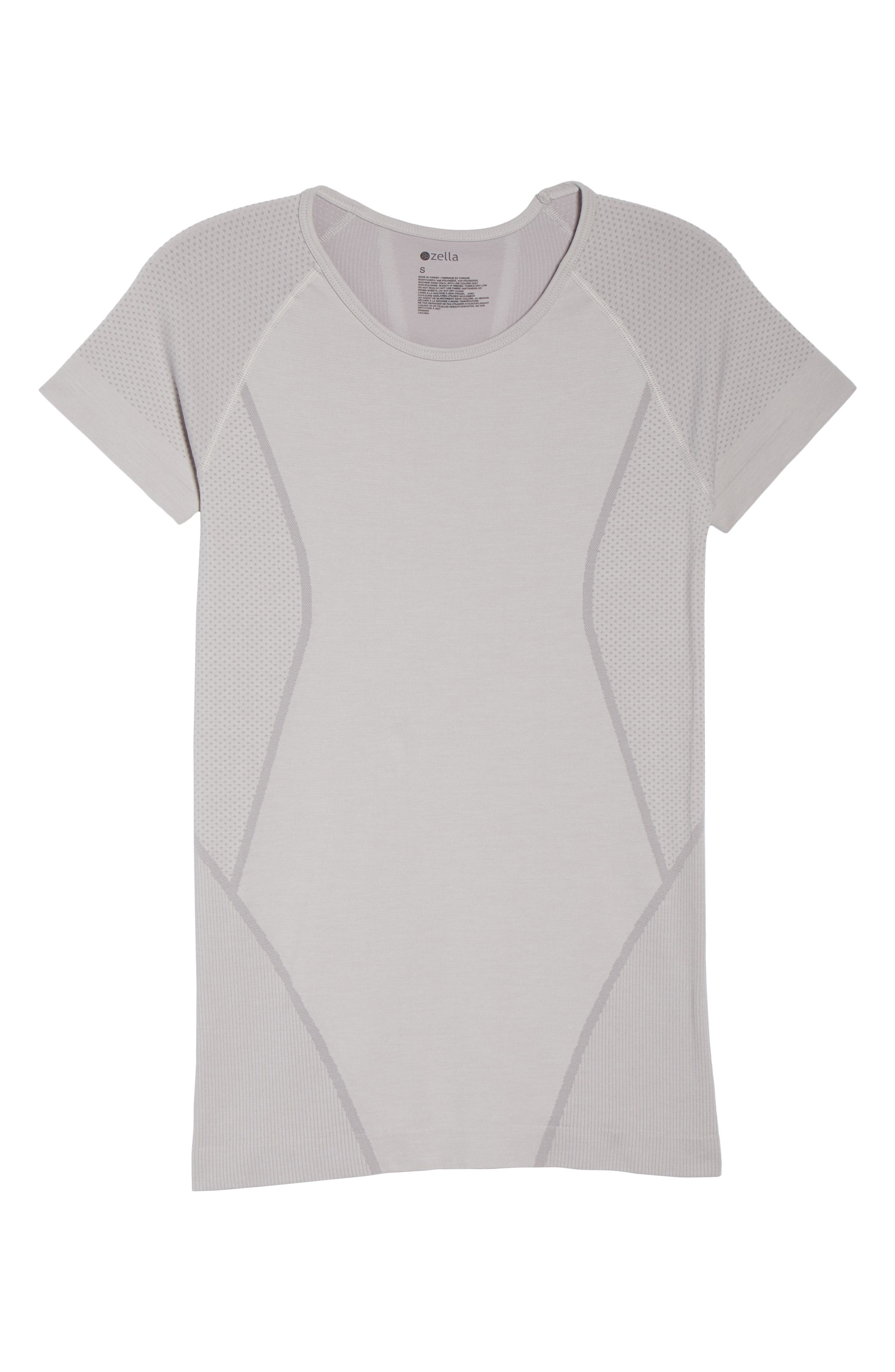 ZELLA, Stand Out Seamless Training Tee, Alternate thumbnail 7, color, 050