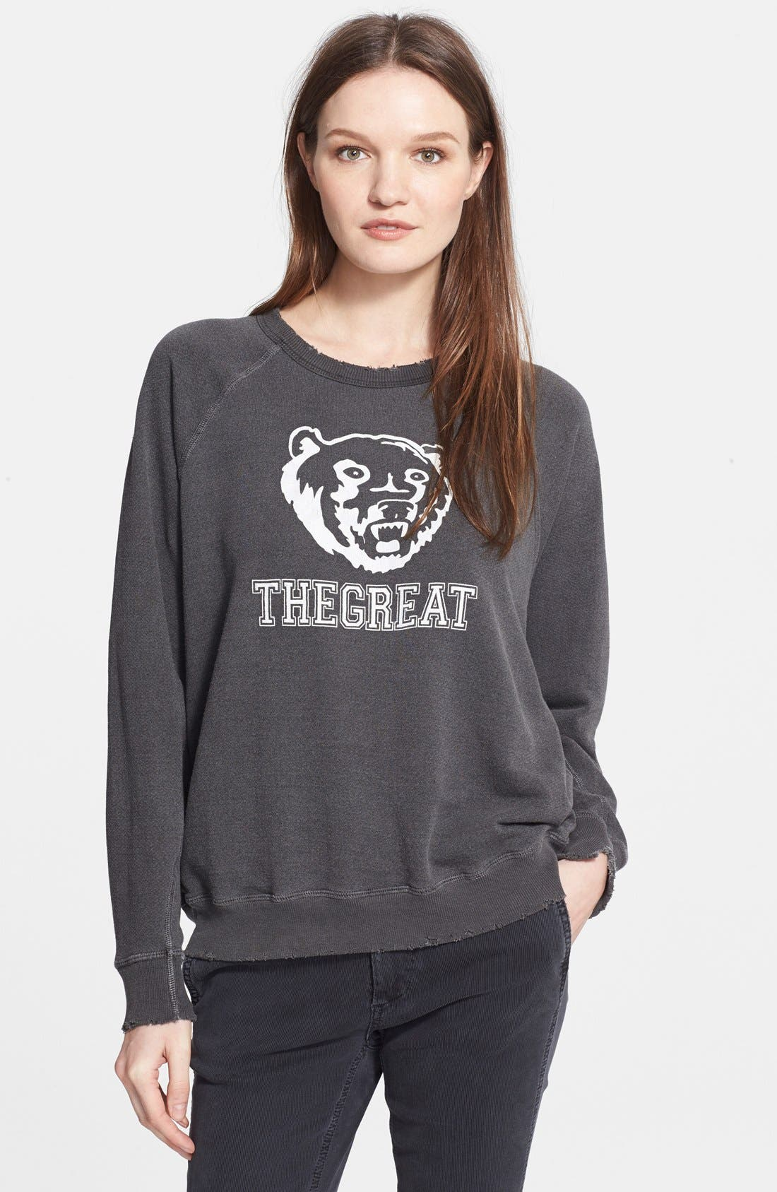 THE GREAT., 'The Bear' Graphic Sweatshirt, Main thumbnail 1, color, 020