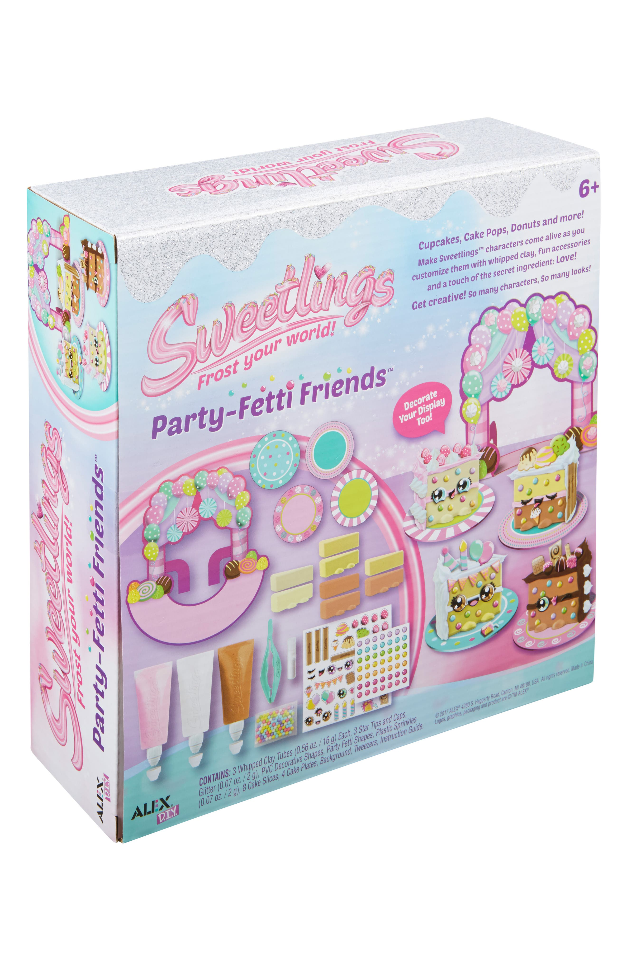ALEX<SUP>®</SUP> TOYS, DIY Sweetlings Party Fetti Friends, Alternate thumbnail 4, color, 960