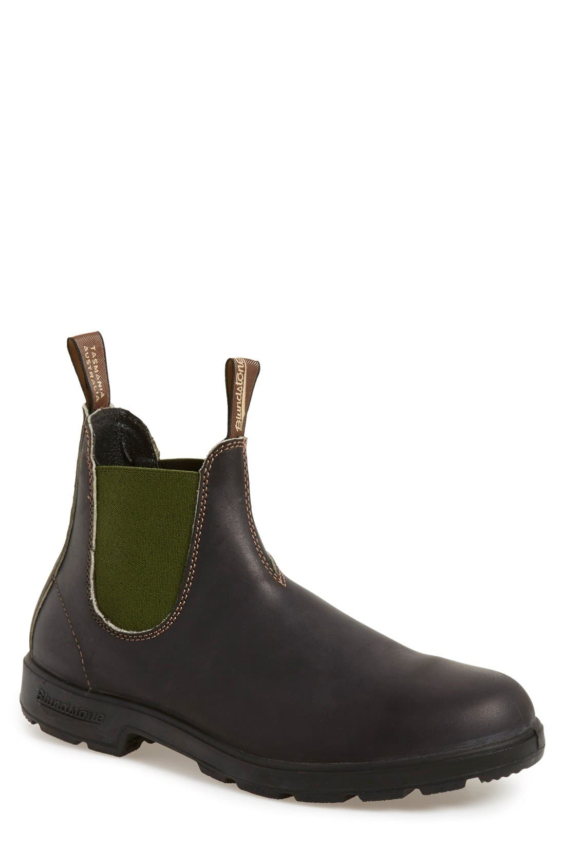 BLUNDSTONE FOOTWEAR, Chelsea Boot, Main thumbnail 1, color, STOUT BROWN