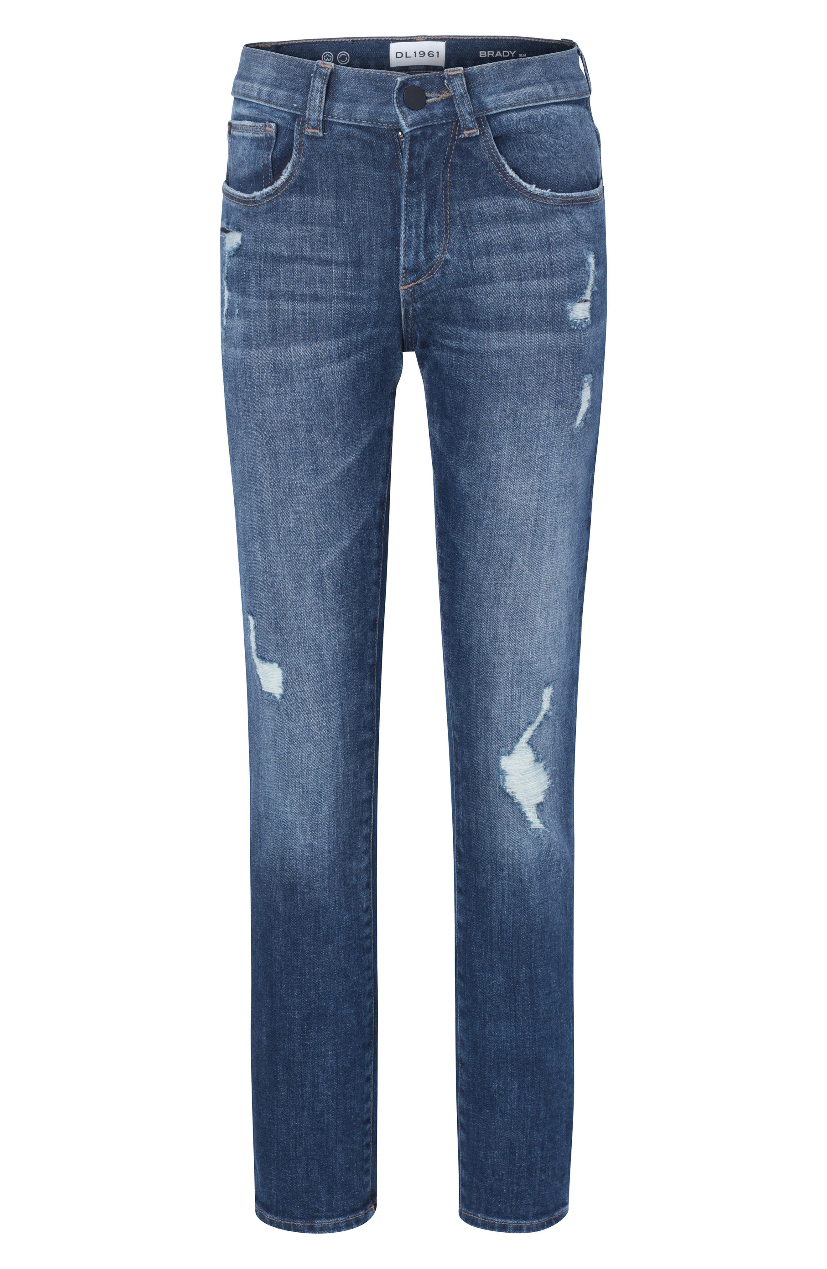 DL1961 Brady Distressed Jeans, Main, color, MOOD