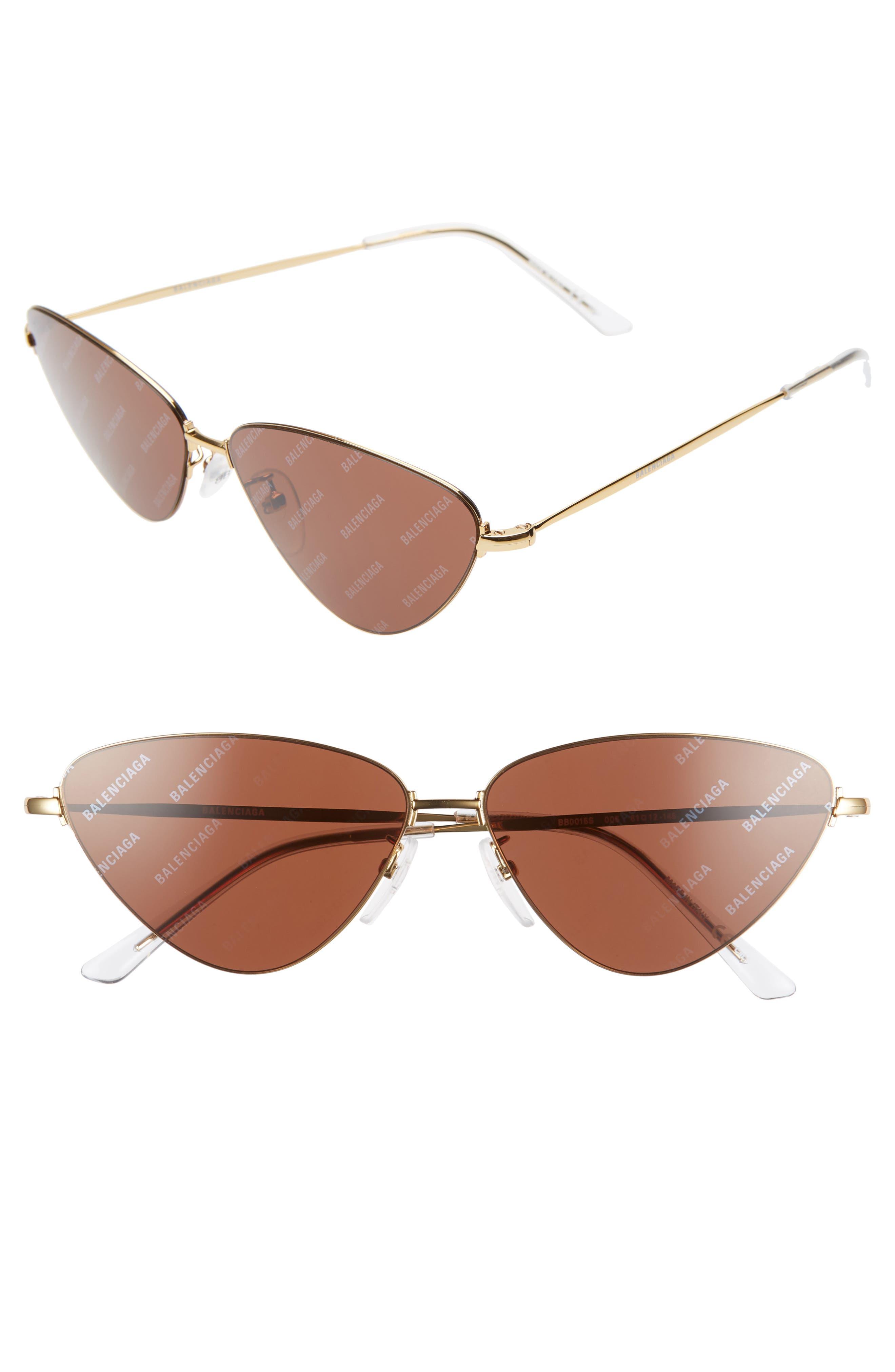 733c437bf9c Balenciaga 61Mm Cat Eye Sunglasses - Shiny Endura Gold  Brown