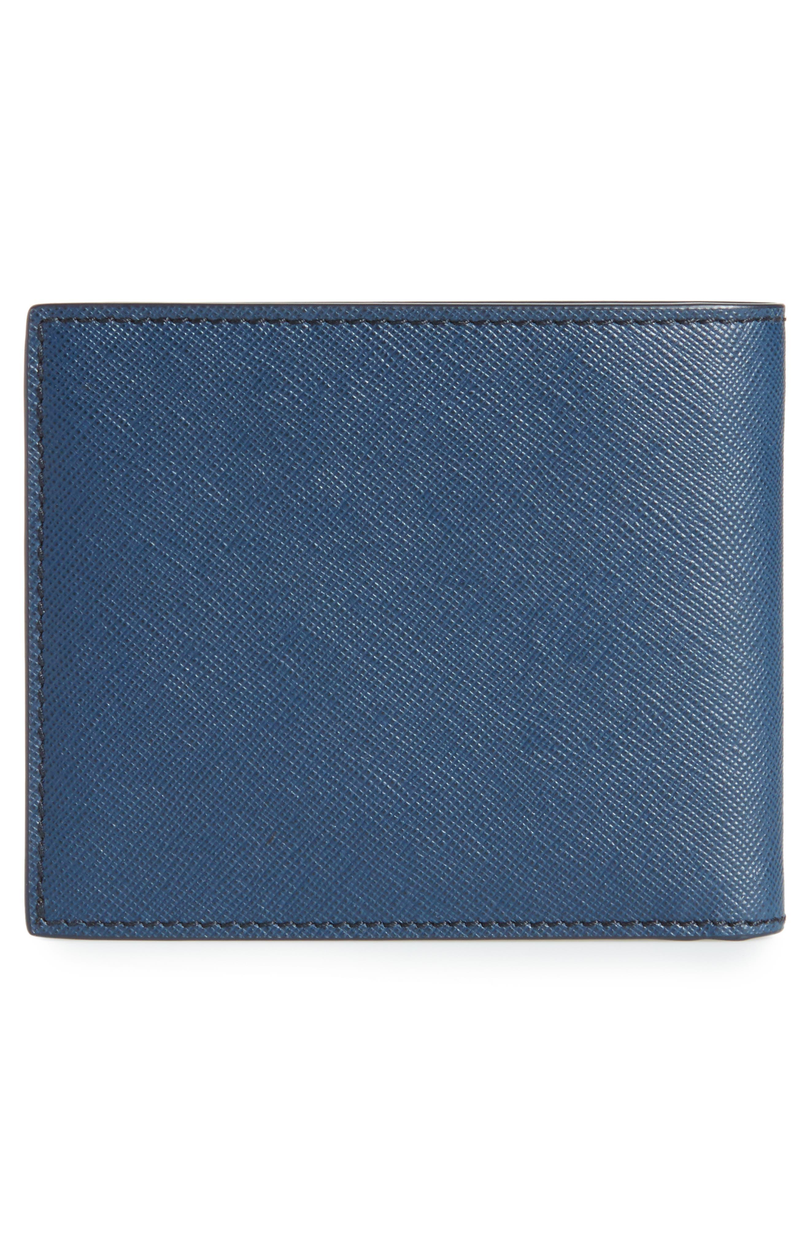 MONTBLANC, Sartorial Leather Wallet, Alternate thumbnail 3, color, INDIGO