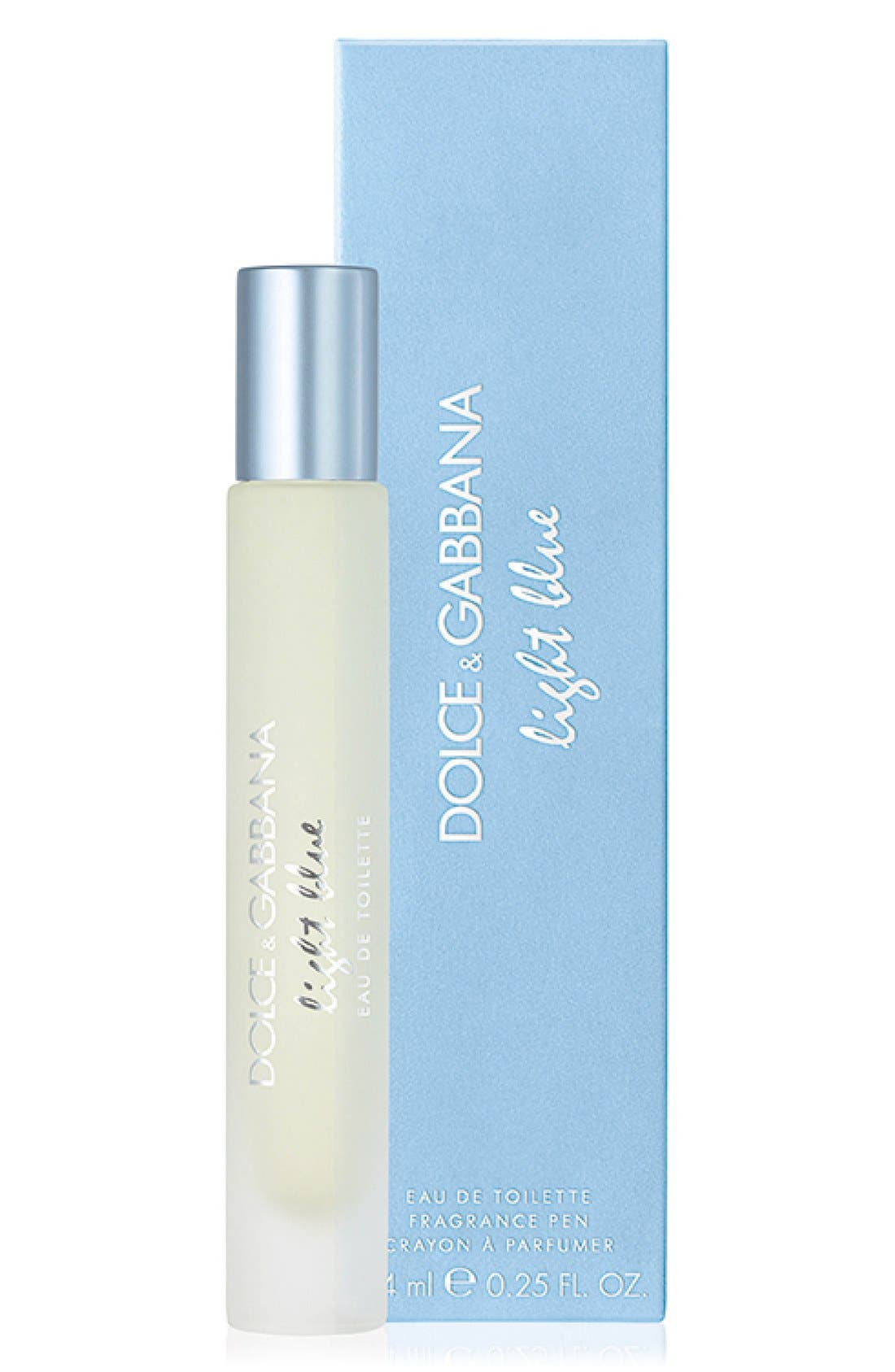 DOLCE&GABBANA BEAUTY, 'Light Blue' Eau de Toilette Rollerball, Alternate thumbnail 2, color, NO COLOR