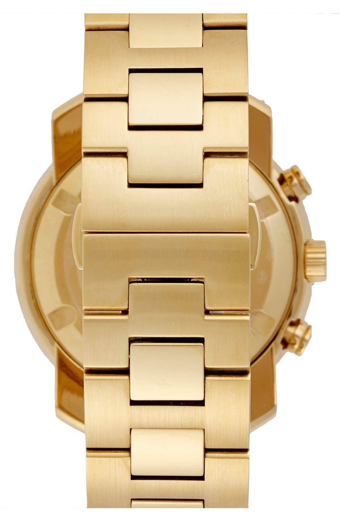MOVADO, 'Bold' Chronograph Bracelet Watch, 44mm, Alternate thumbnail 3, color, GOLD