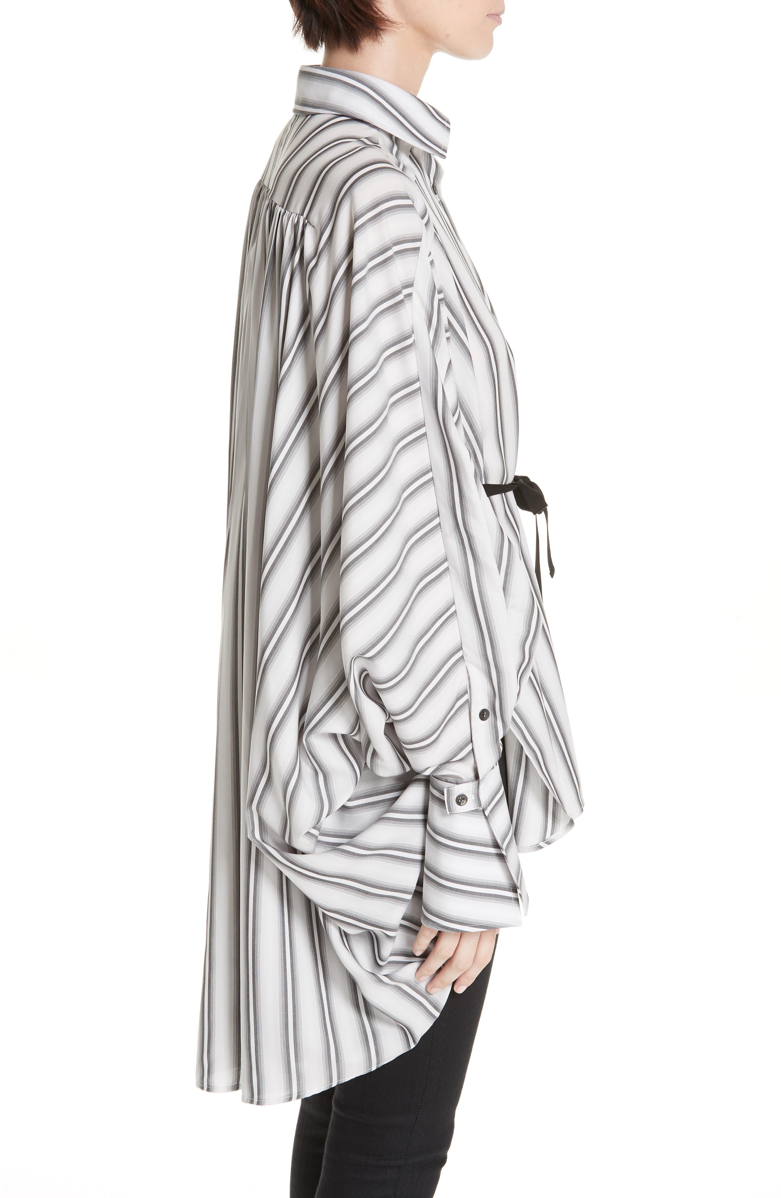 PALMER/HARDING, Streep Stripe Shirt, Alternate thumbnail 3, color, GRADIENT STRIPE WITH BLACK