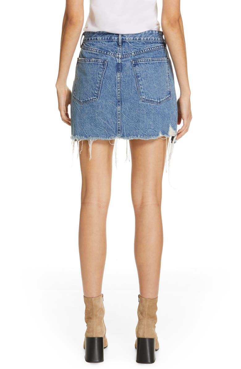 d1cf5b5e81 3X1 Celine Distressed Denim Mini Skirt In Gloss | ModeSens