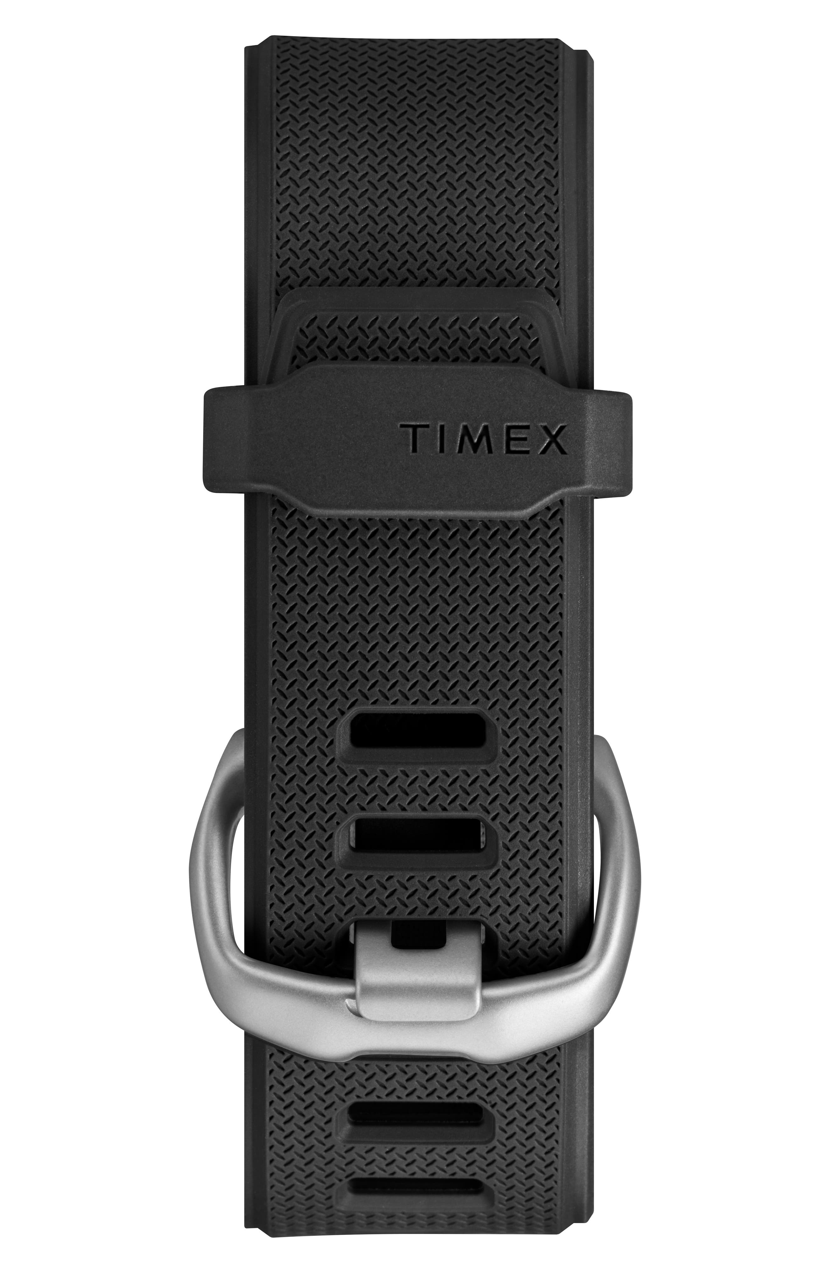 TIMEX<SUP>®</SUP>, Timex Command<sup>™</sup> Shock Digital Silicone Strap Watch, 54mm, Alternate thumbnail 2, color, BROWN