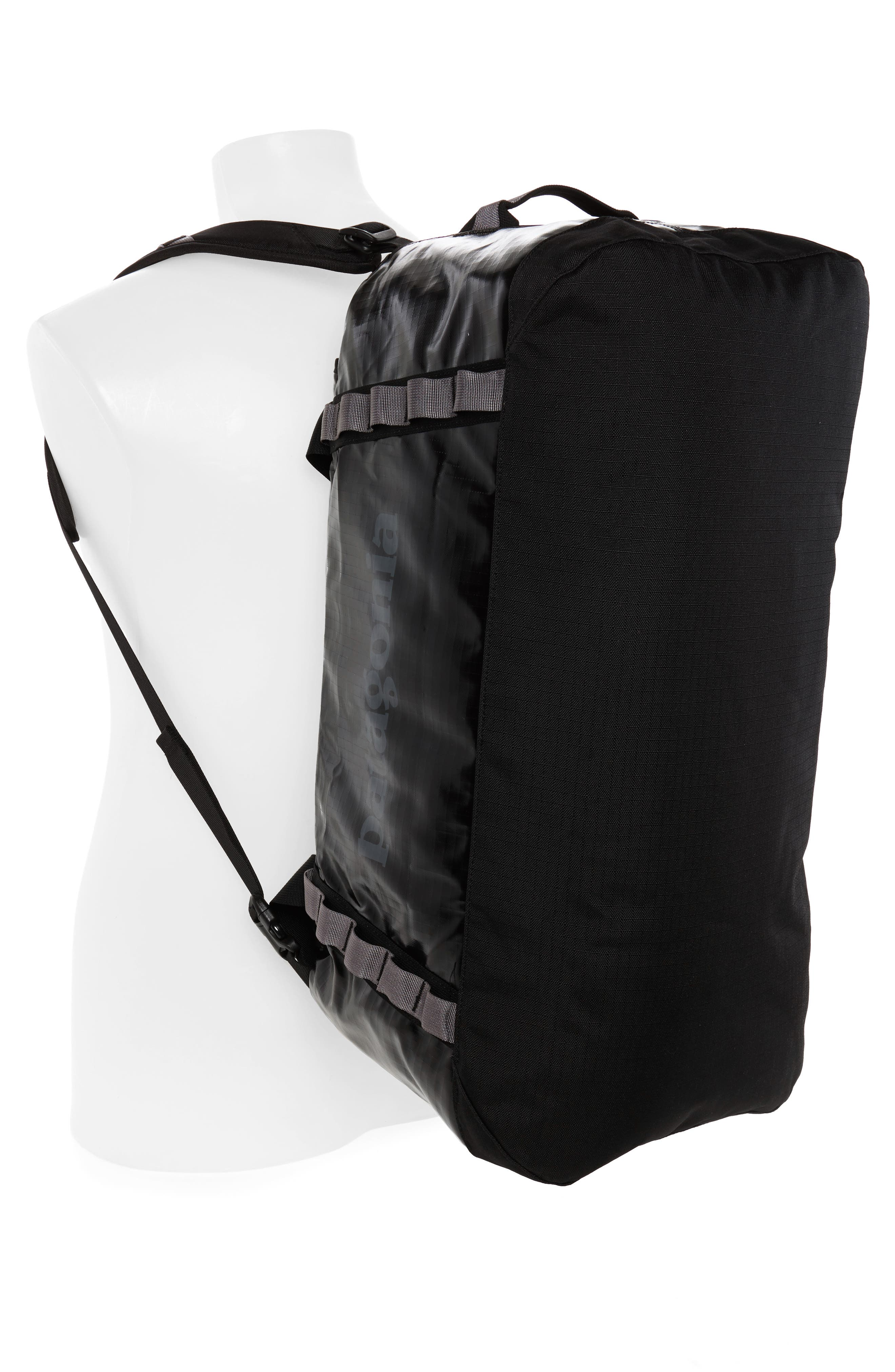 PATAGONIA, Black Hole Water Repellent 60-Liter Duffle Bag, Alternate thumbnail 2, color, BLACK
