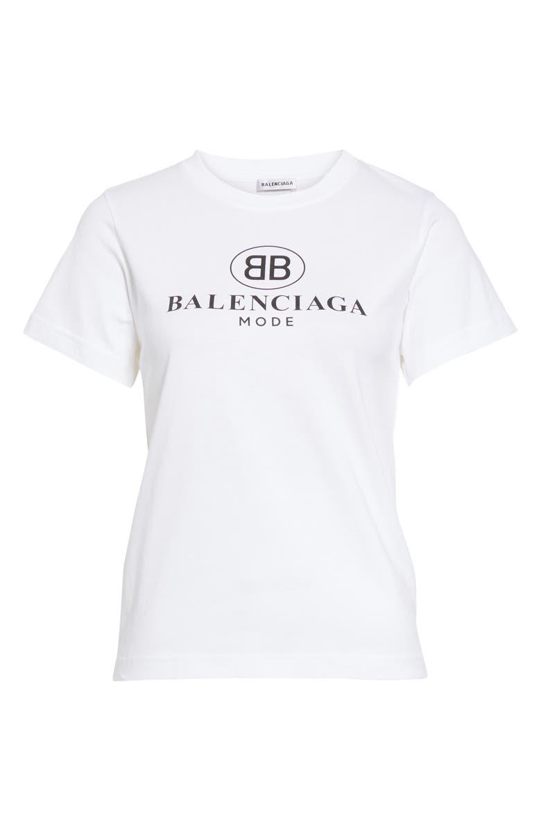 856af8f94 Balenciaga Women's White Logo-Print Cotton-Jersey T-Shirt In 9000 White