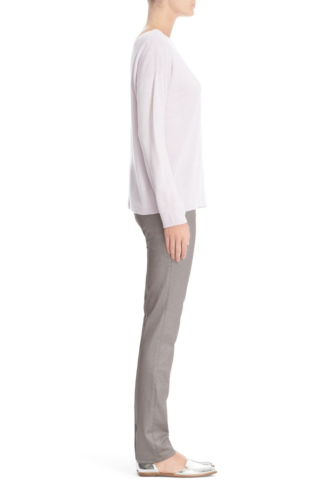 LAFAYETTE 148 NEW YORK, Curvy Fit Skinny Jeans, Alternate thumbnail 8, color, SILVER