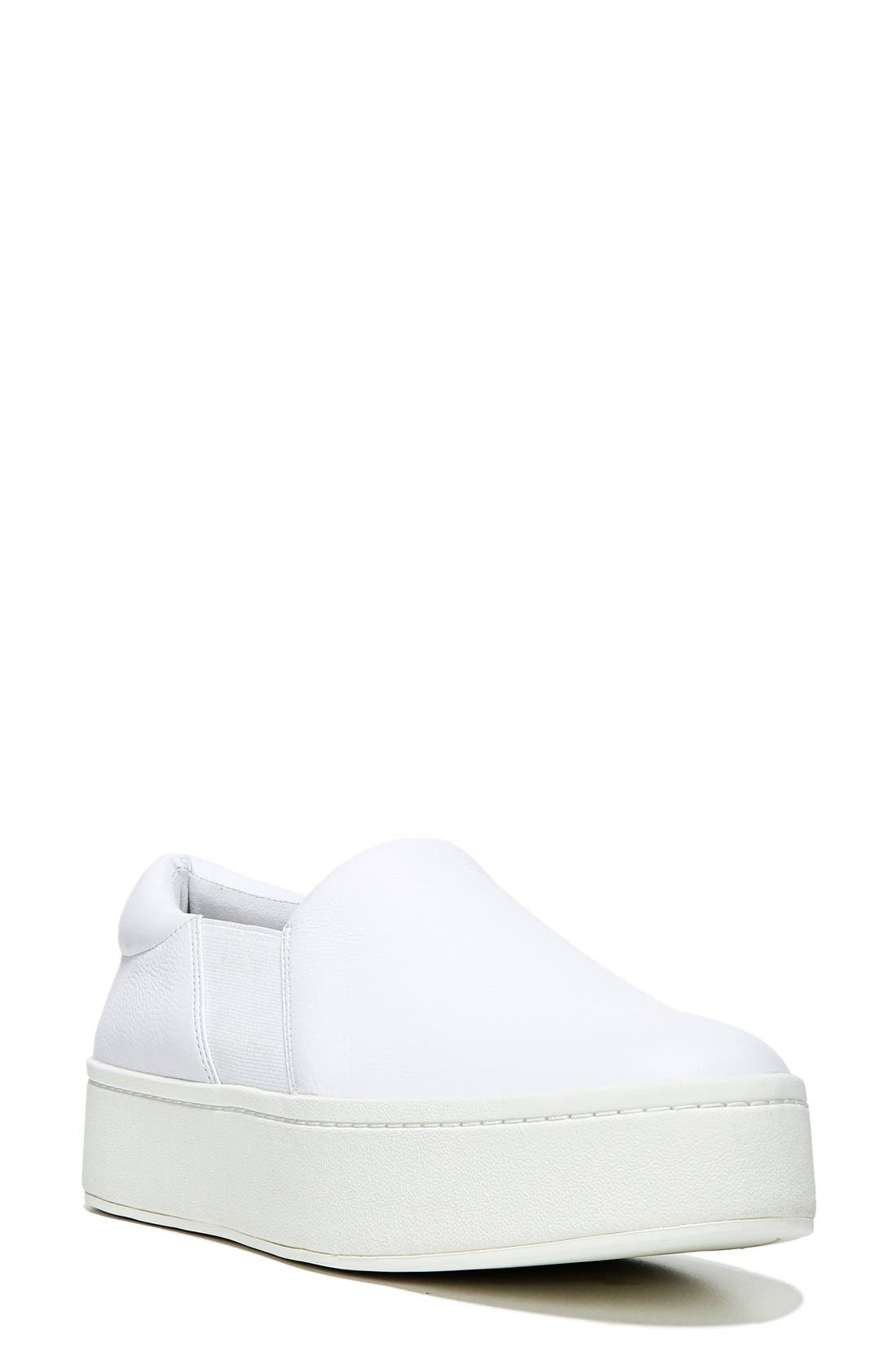 VINCE Warren Slip-On Sneaker, Main, color, PLASTER LEATHER