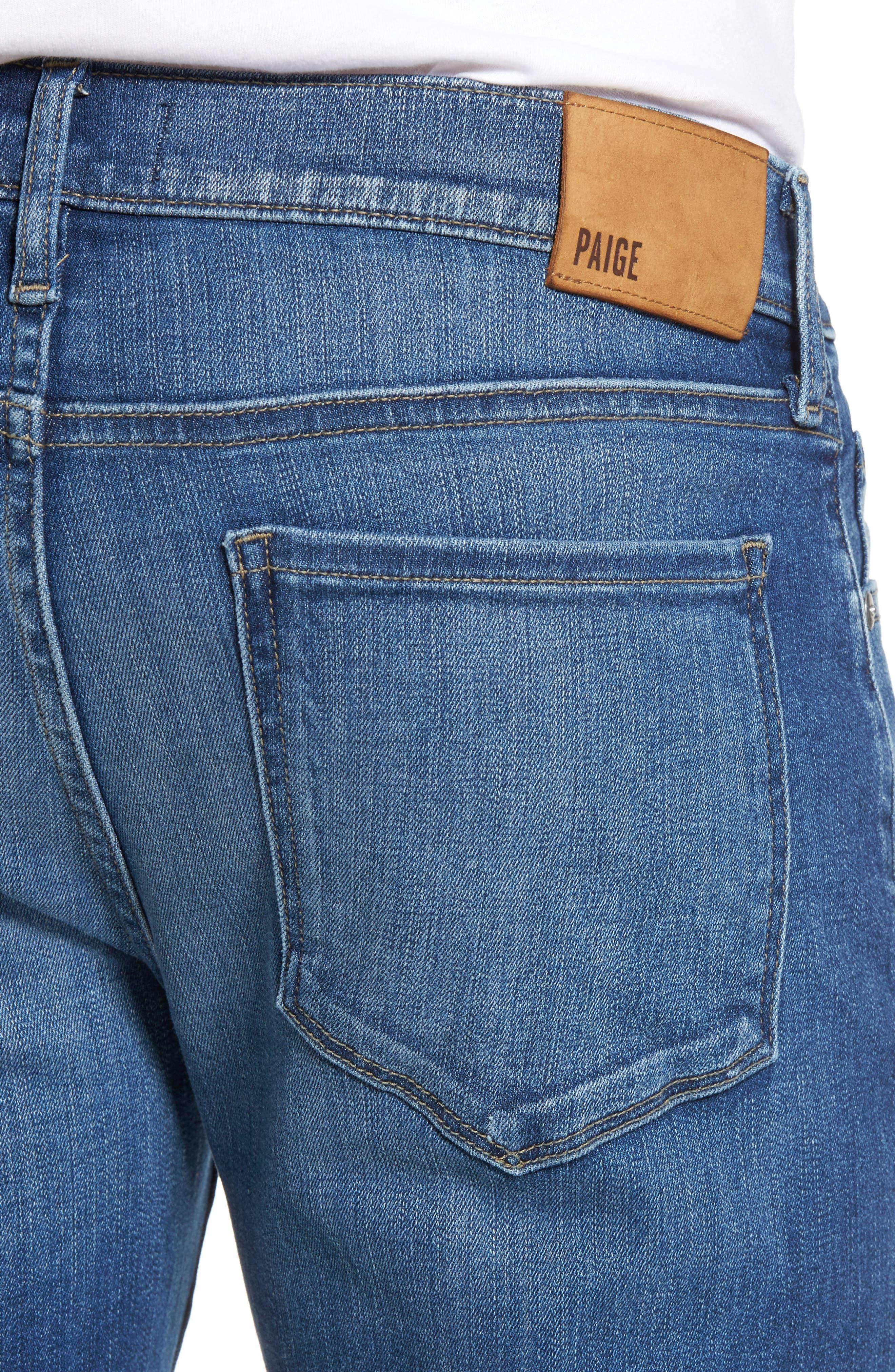 PAIGE, Transcend - Lennox Slim Fit Jeans, Alternate thumbnail 5, color, MULHOLLAND