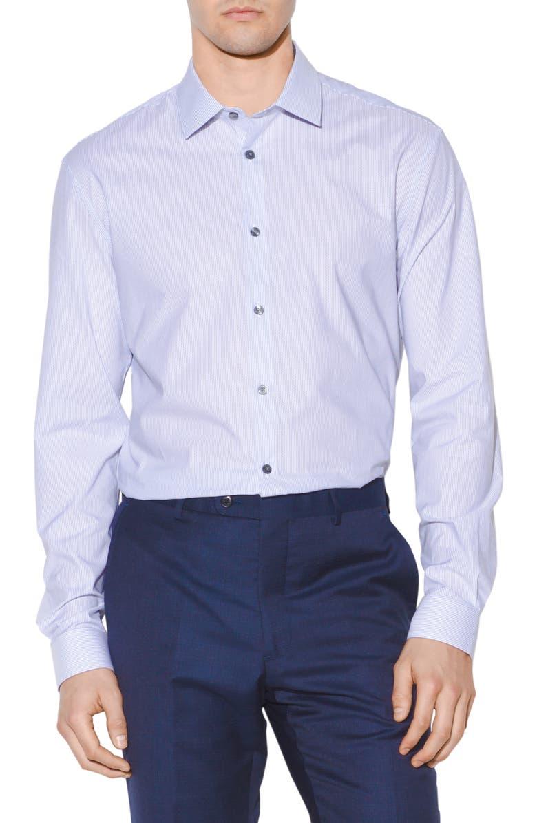 John Varvatos Dresses SLIM FIT VERTICAL STRIPE DRESS SHIRT