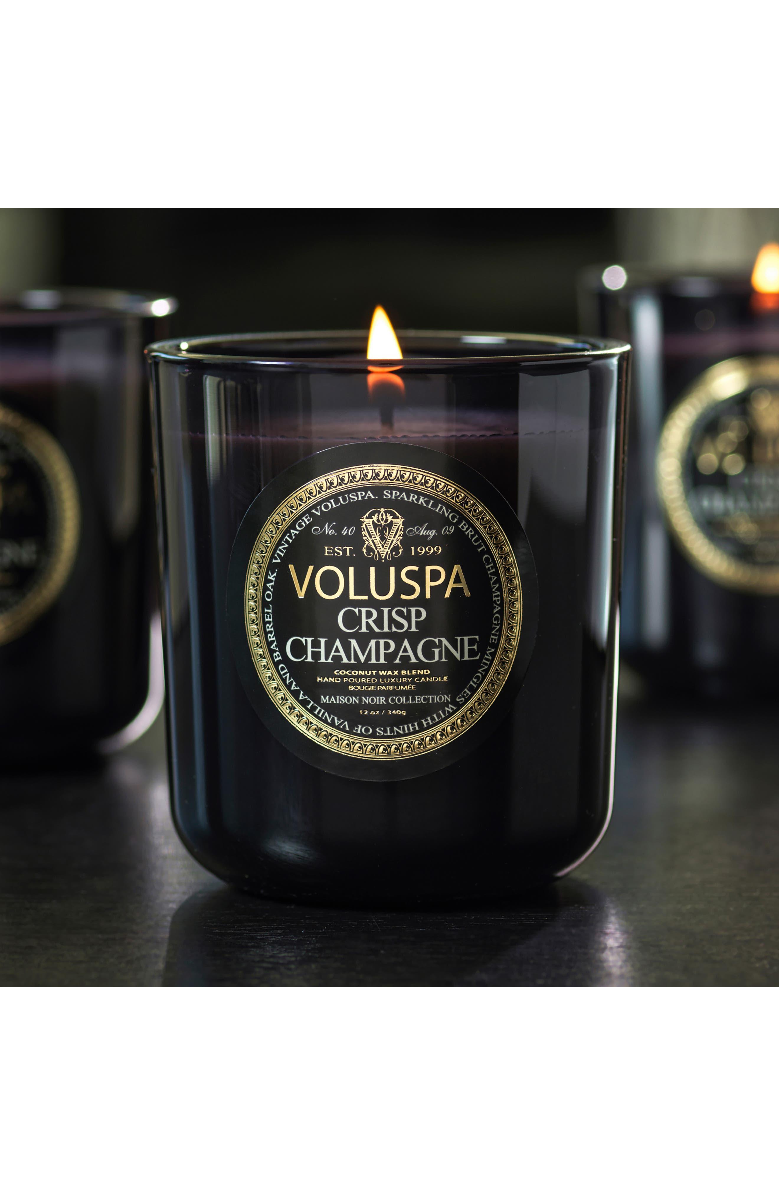 VOLUSPA, Maison Noir Crisp Champagne Classic Maison Candle, Alternate thumbnail 3, color, NO COLOR
