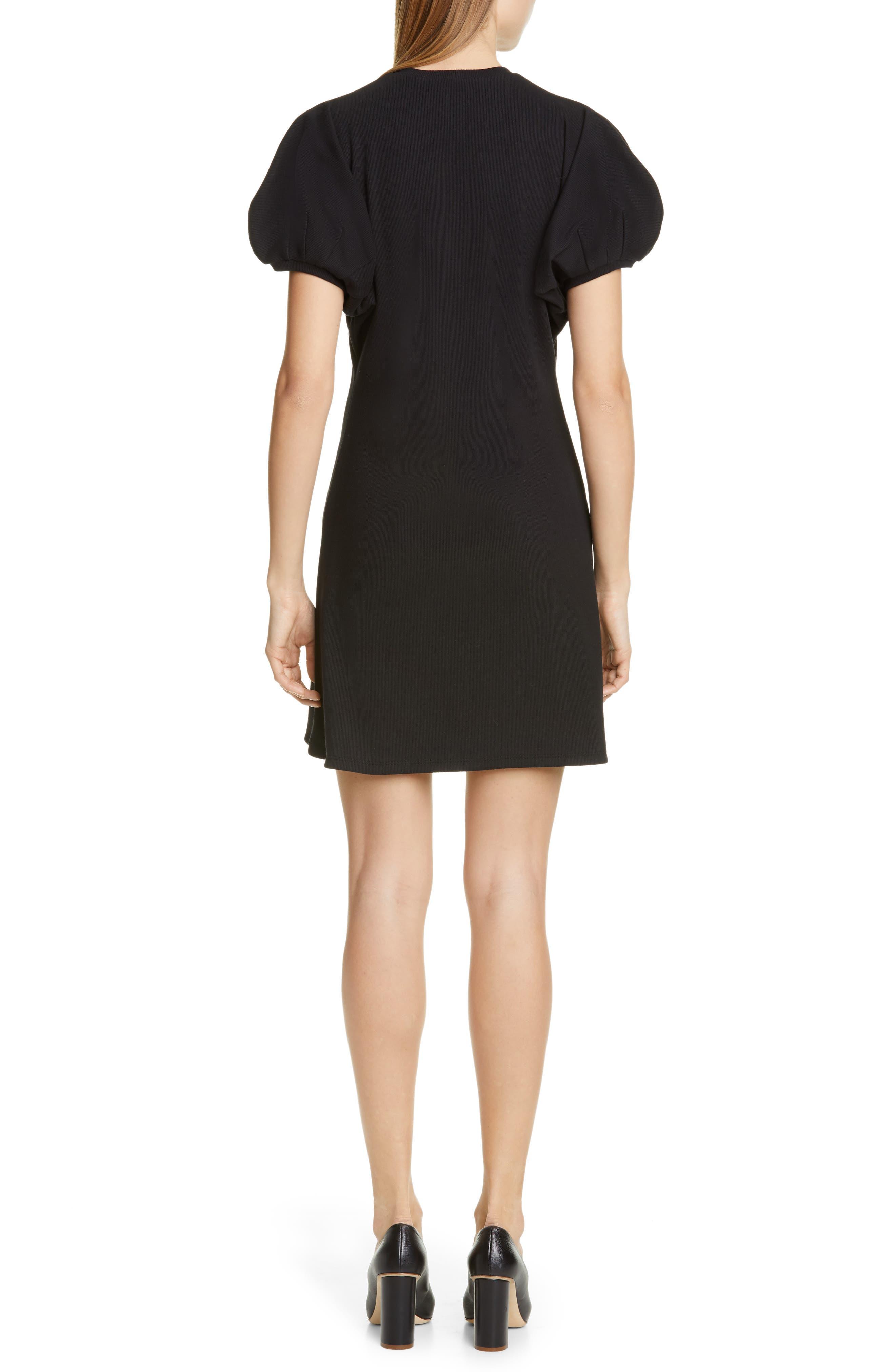 BEAUFILLE, Leda Puff Sleeve Dress, Alternate thumbnail 2, color, BLACK