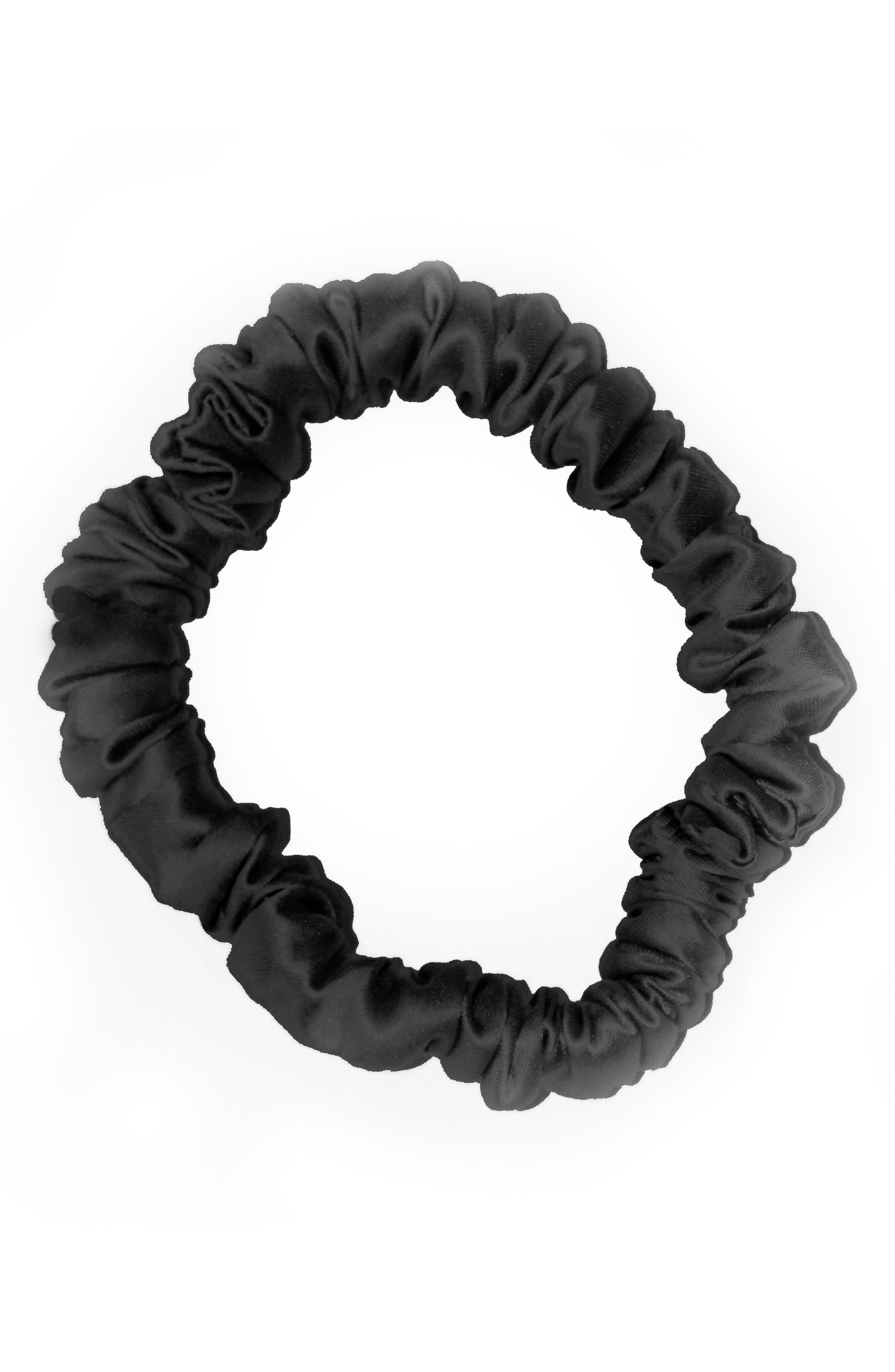 SLIP FOR BEAUTY SLEEP, slip<sup>™</sup> for beauty sleep 6-Pack Slipsilk<sup>™</sup> Skinny Hair Ties, Alternate thumbnail 3, color, BLACK