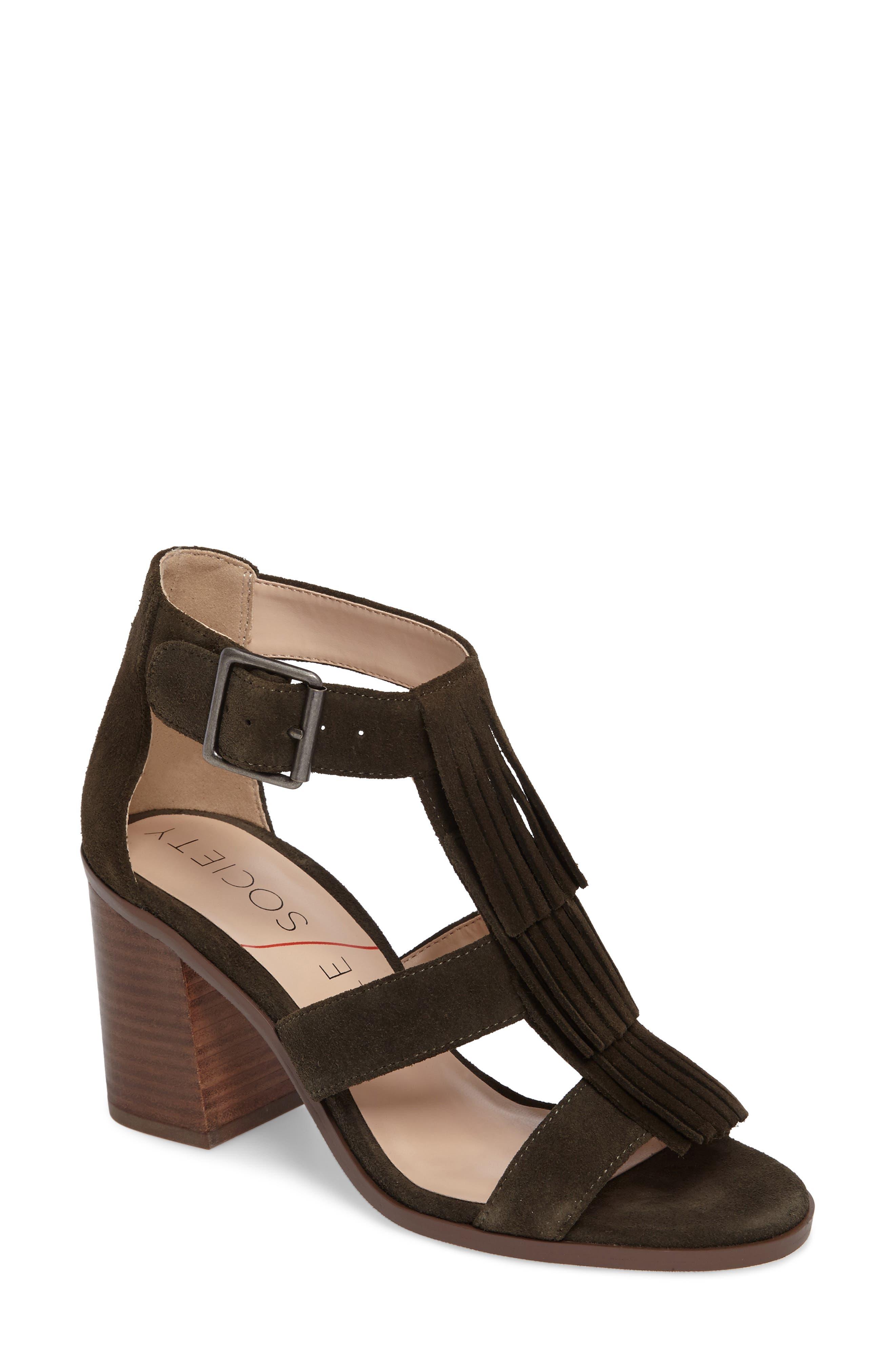 SOLE SOCIETY 'Delilah' Fringe Sandal, Main, color, 301