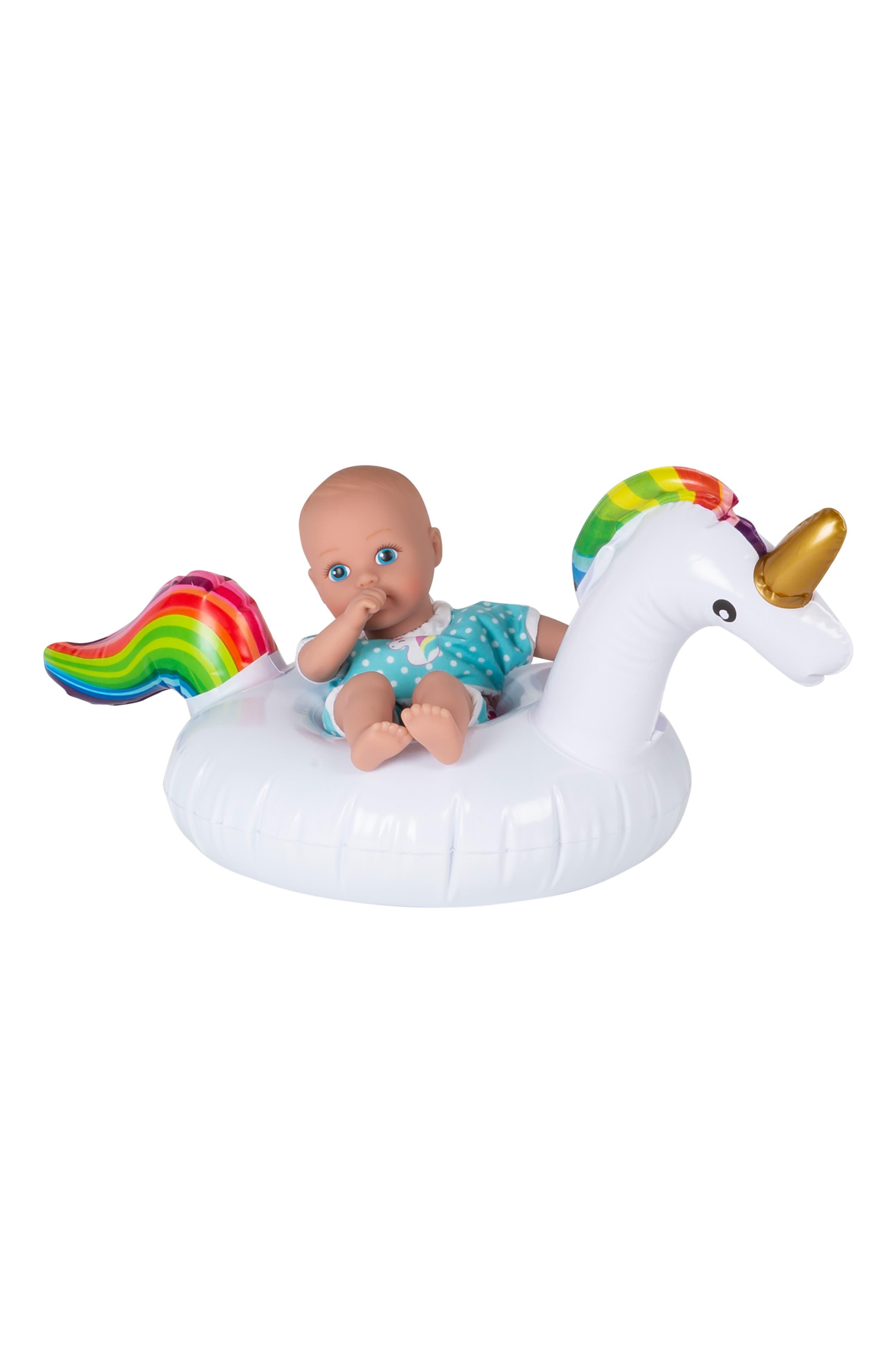 ADORA, Magical Unicorn Splashtime Baby Doll, Alternate thumbnail 7, color, WHITE