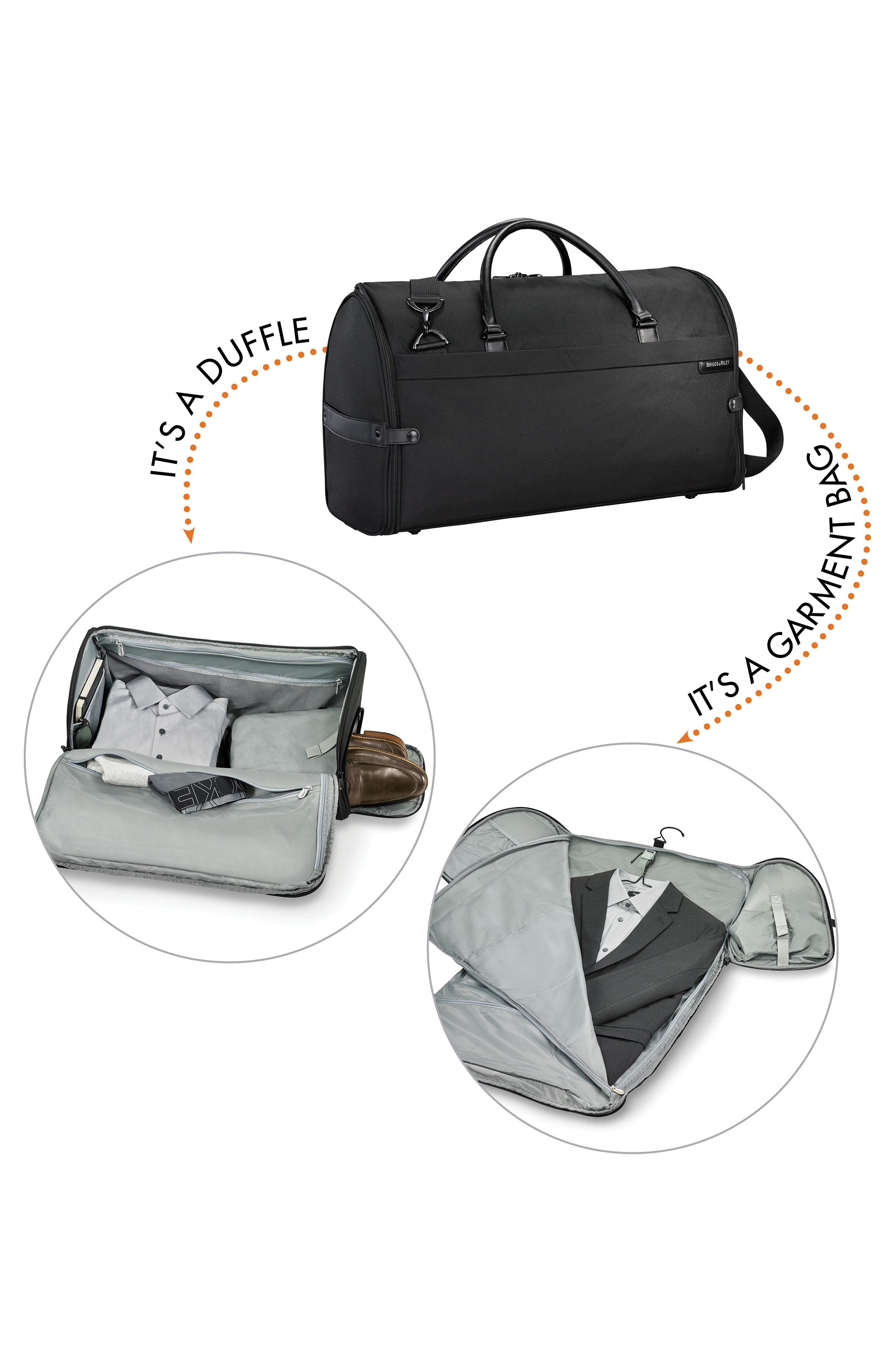 BRIGGS & RILEY, Baseline Suiter Duffle Bag, Alternate thumbnail 10, color, BLACK