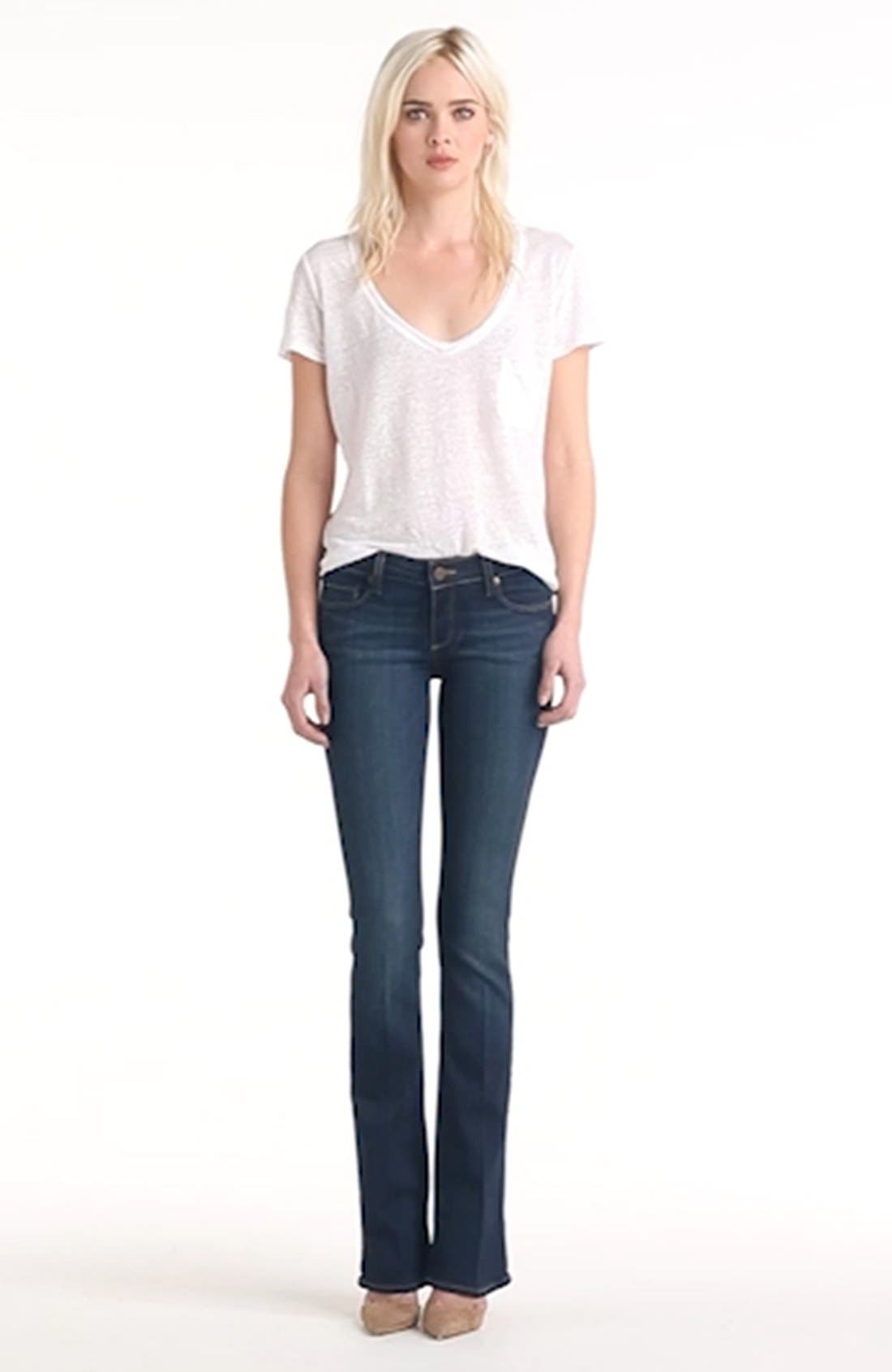 PAIGE, 'Transcend - Manhattan' Bootcut Jeans, Alternate thumbnail 2, color, ARMSTRONG