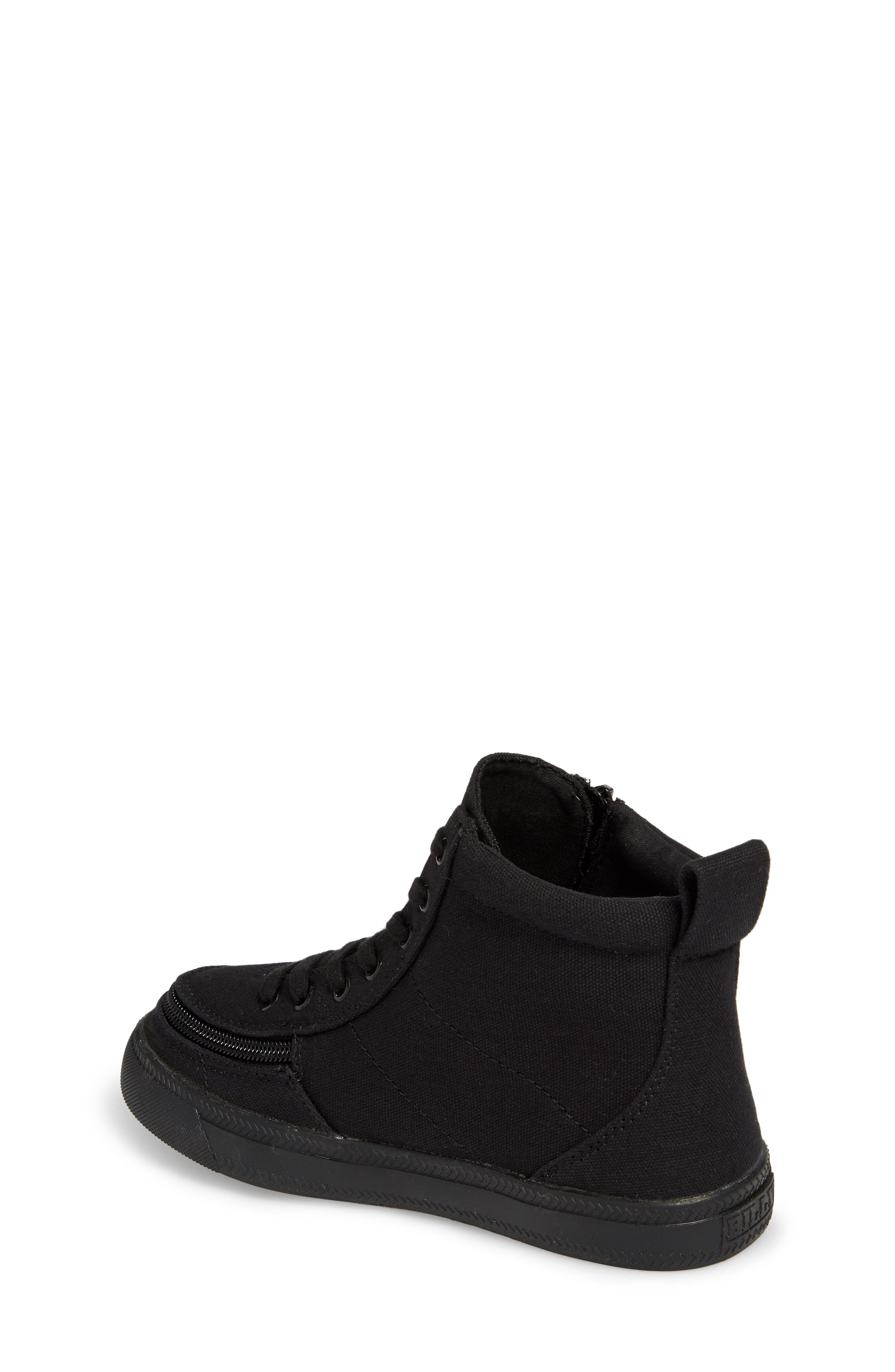 BILLY FOOTWEAR, Classic Hi-Rise Sneaker, Alternate thumbnail 2, color, BLACK TO THE FLOOR